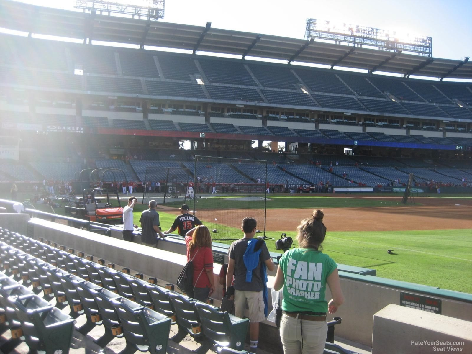 Seat View for Angel Stadium Section 128, Row E