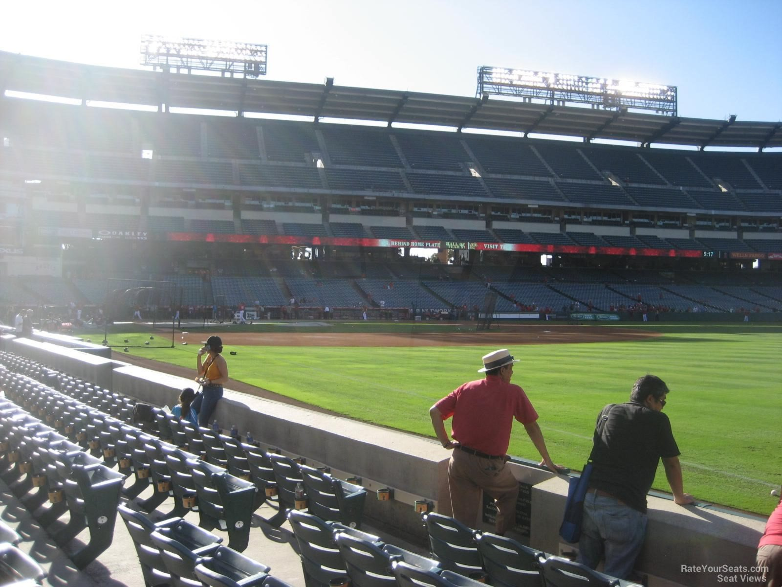 Seat View for Angel Stadium Section 130, Row E