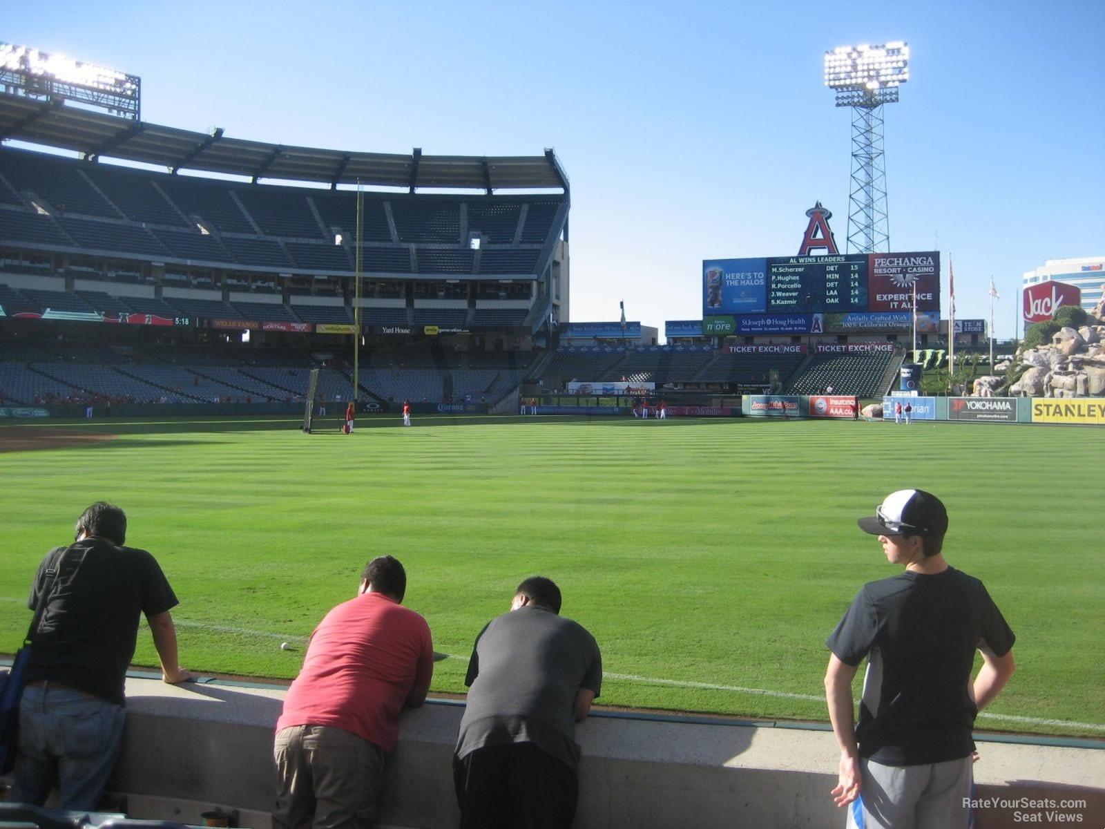 Angel Stadium Section 130 Row E 2 on 8 26 2014k