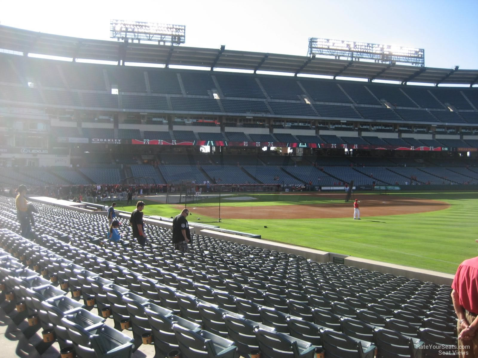 Angel Stadium Section 130 Row S on 8 26 2014k