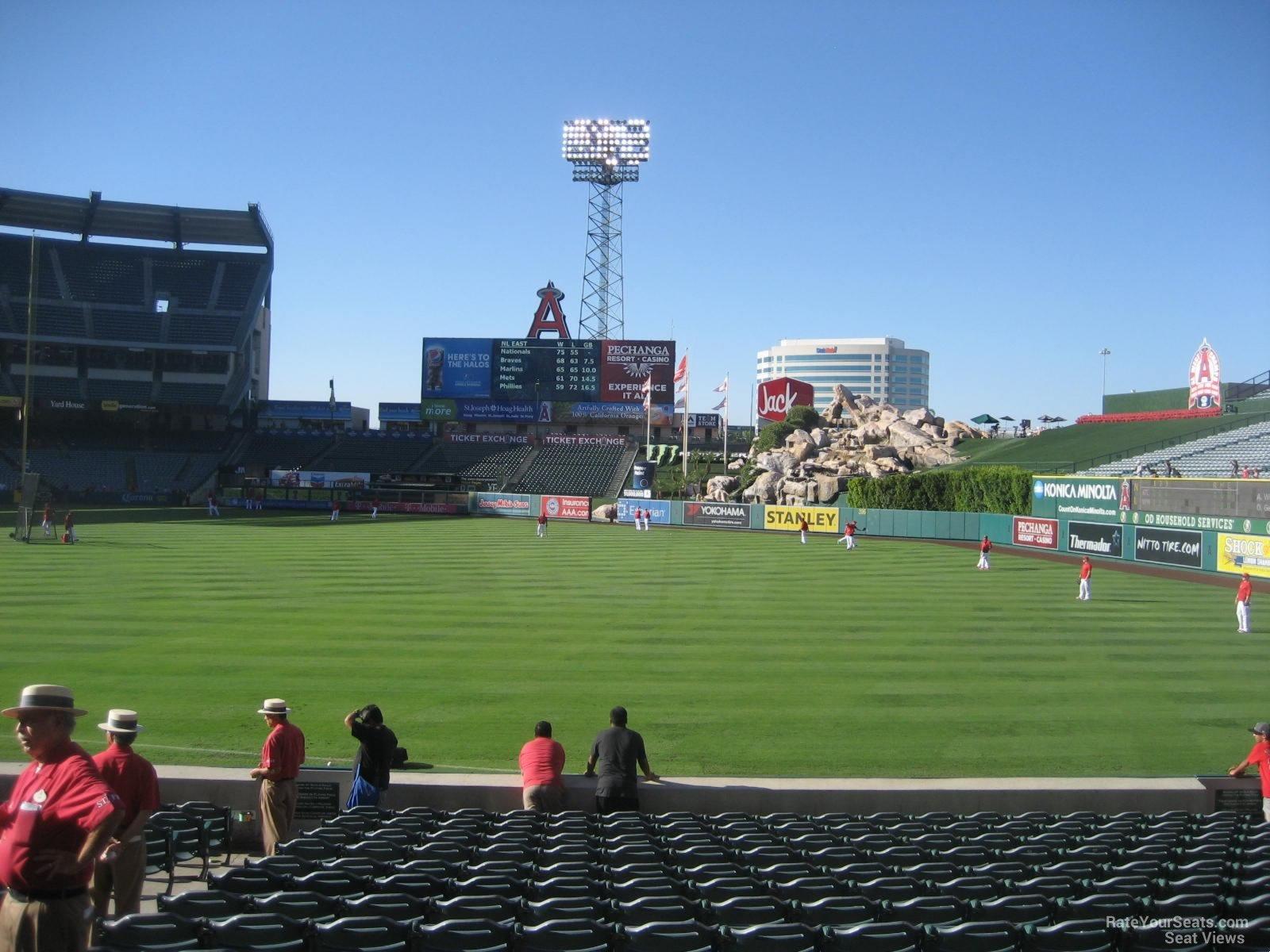 Angel Stadium Section 130 Row S 2 on 8 26 2014k