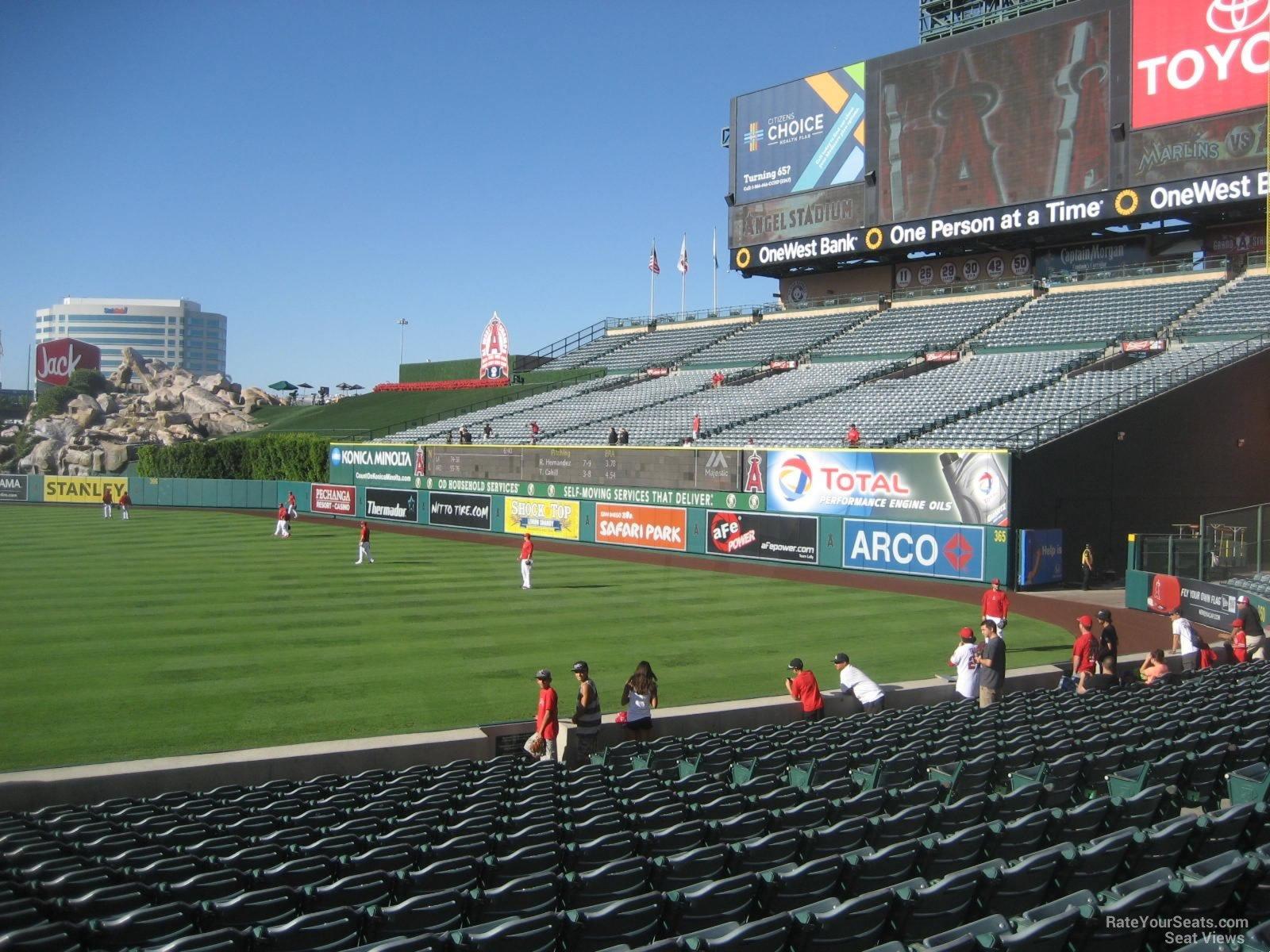 Angel Stadium Section 130 Row S 3 on 8 26 2014k