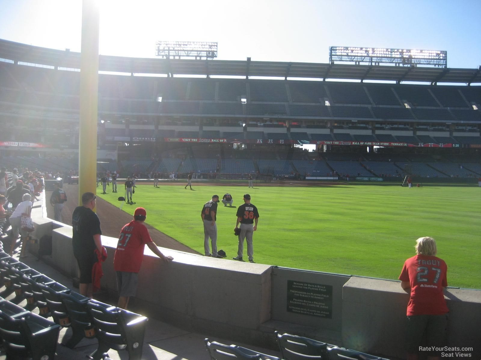 Seat View for Angel Stadium Section 134, Row E