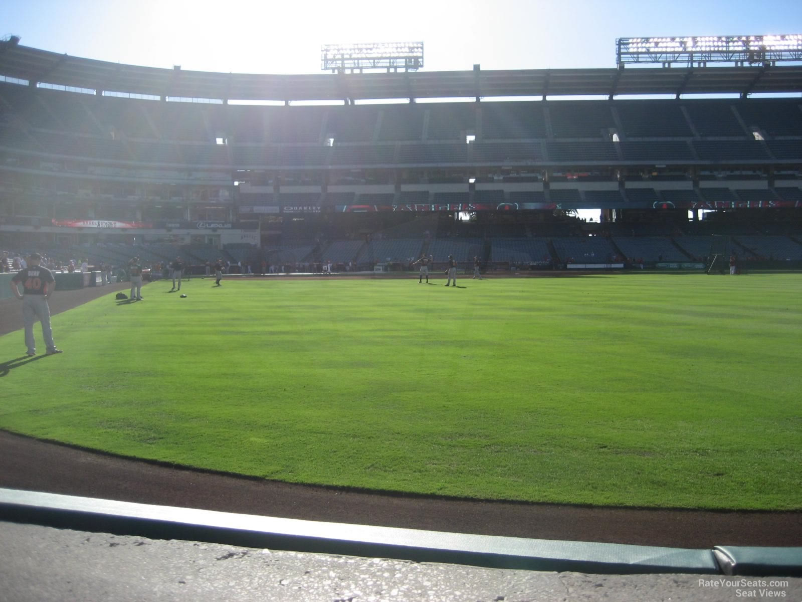 Seat View for Angel Stadium Section 135, Row A