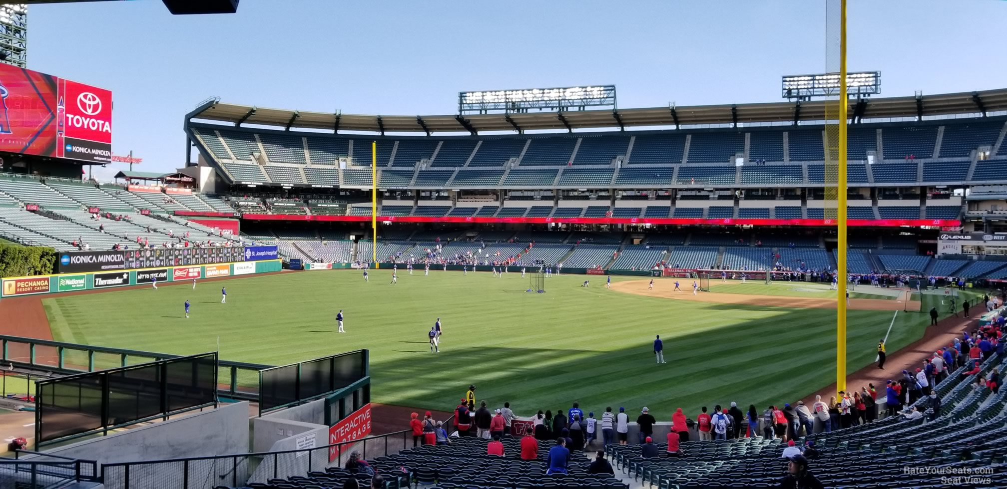 Seat View for Angel Stadium Section 201, Row F