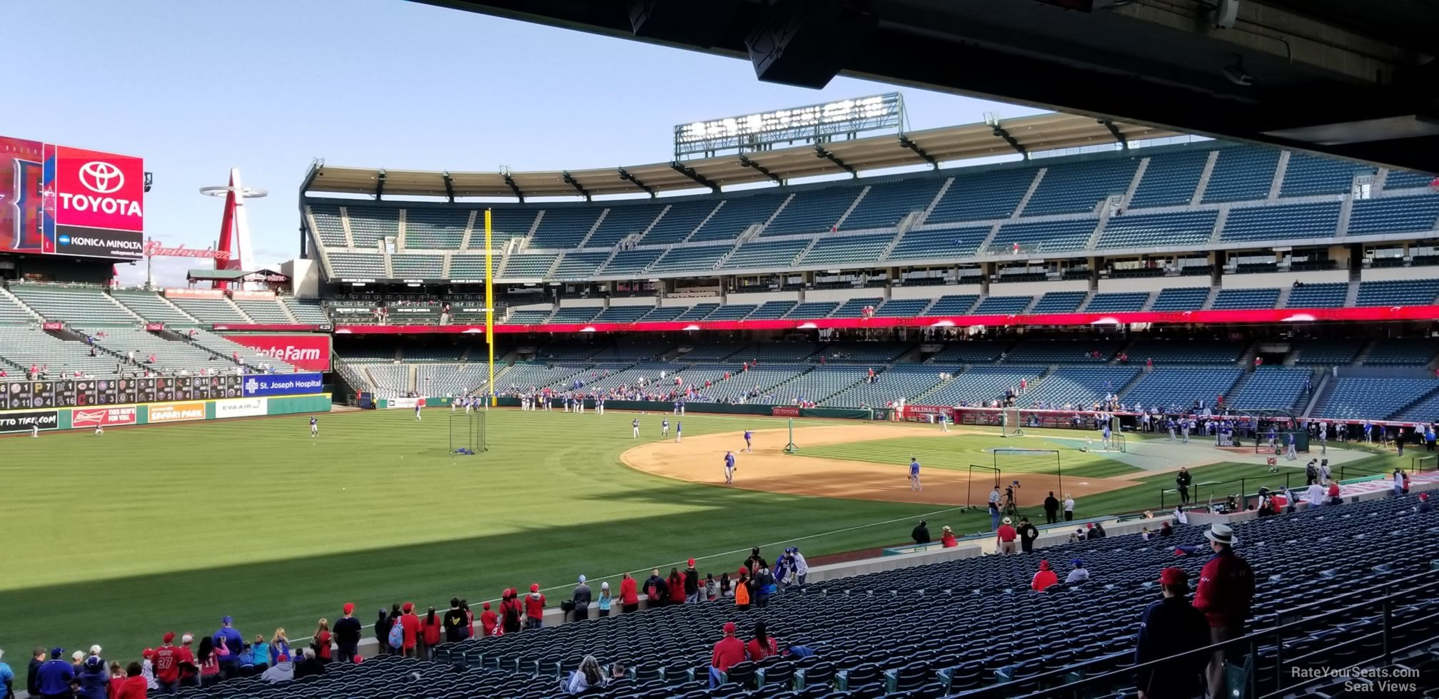 Seat View for Angel Stadium Section 206, Row F