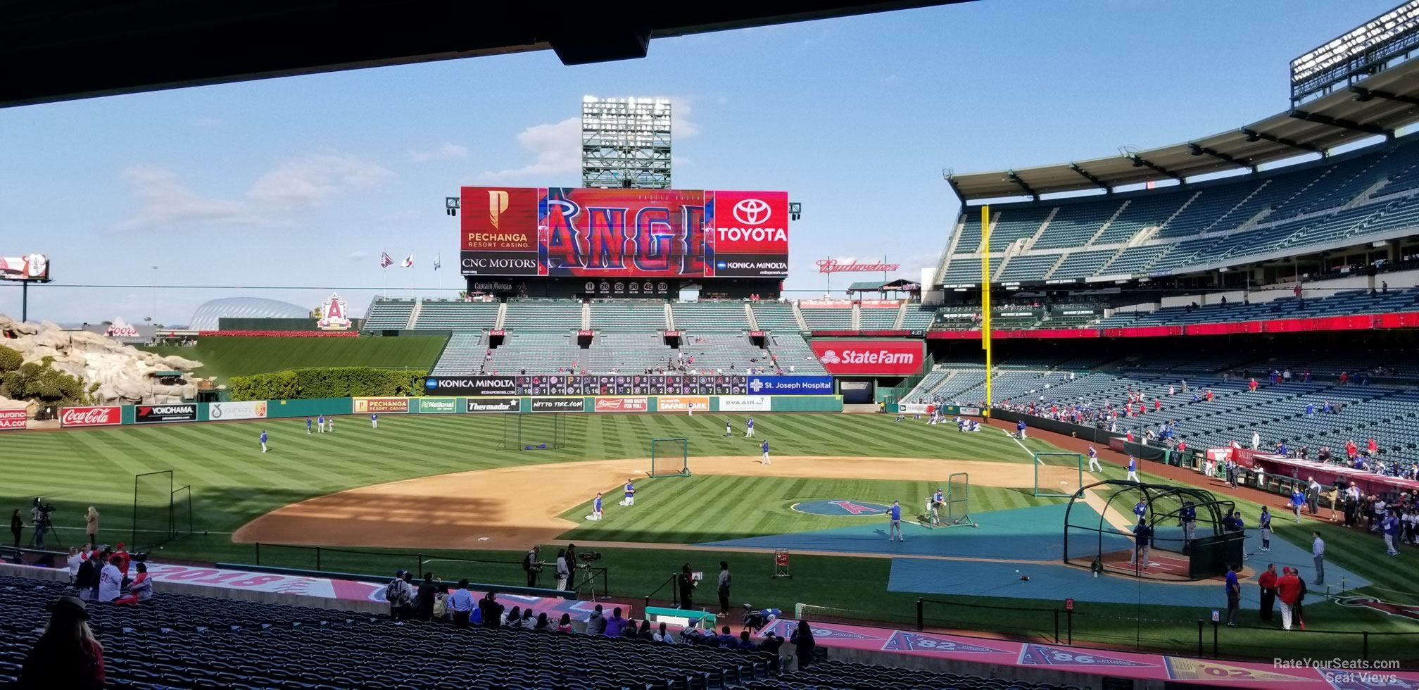 Seat View for Angel Stadium Section 212, Row F