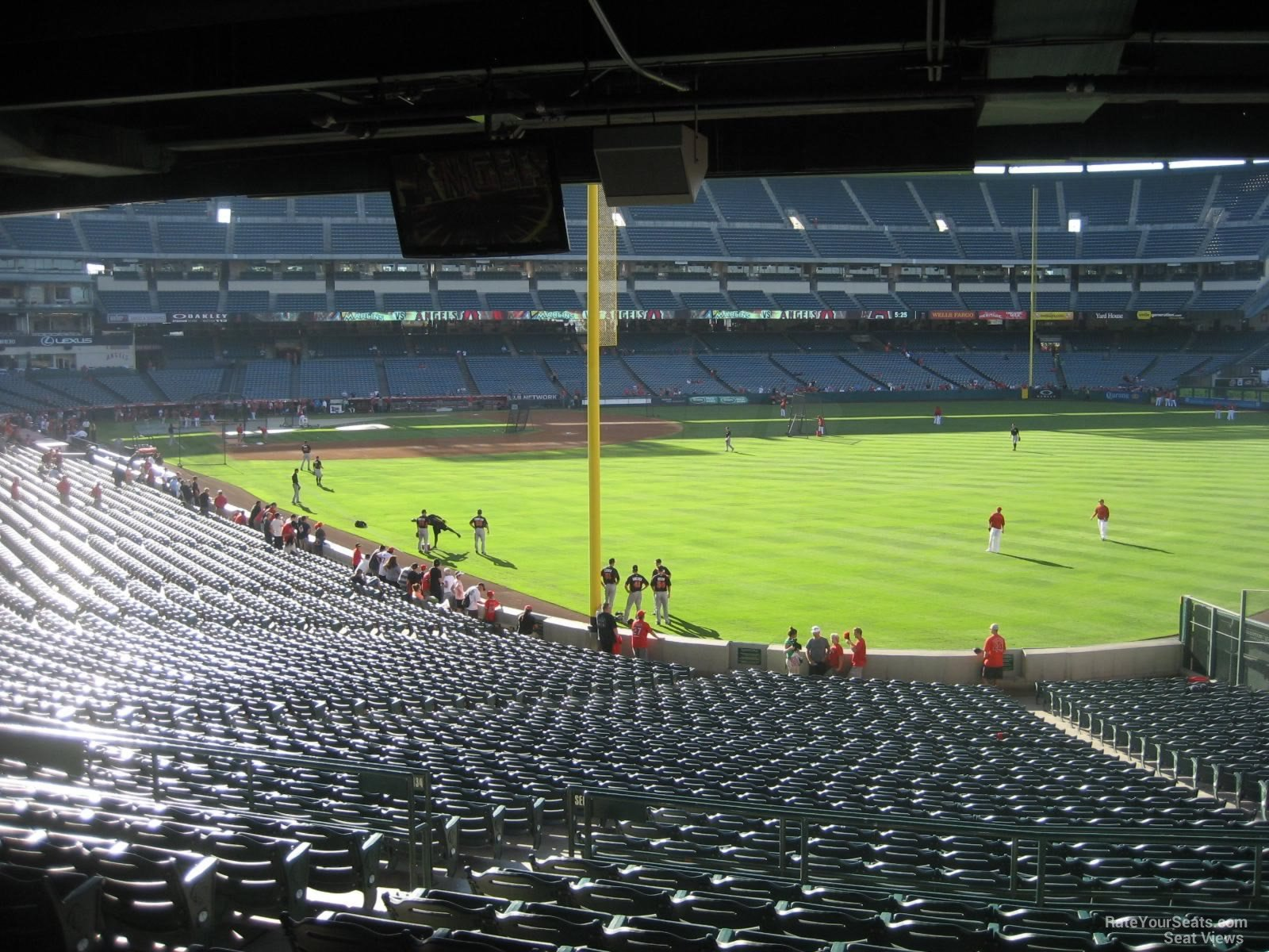 Seat View for Angel Stadium Section 232, Row K
