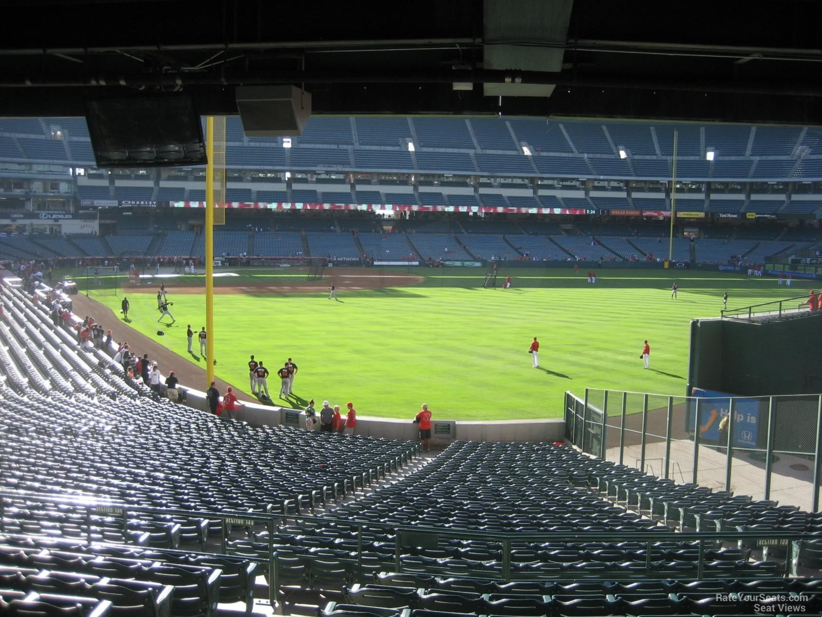 Seat View for Angel Stadium Section 233, Row K