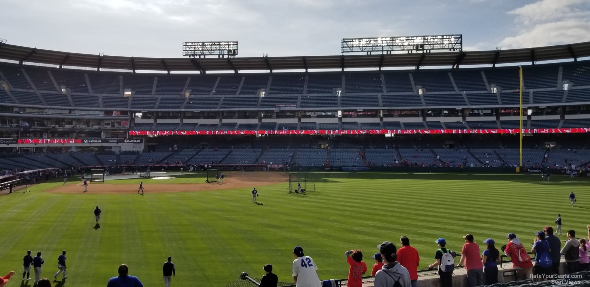 Seat View for Angel Stadium Section 237, Row F