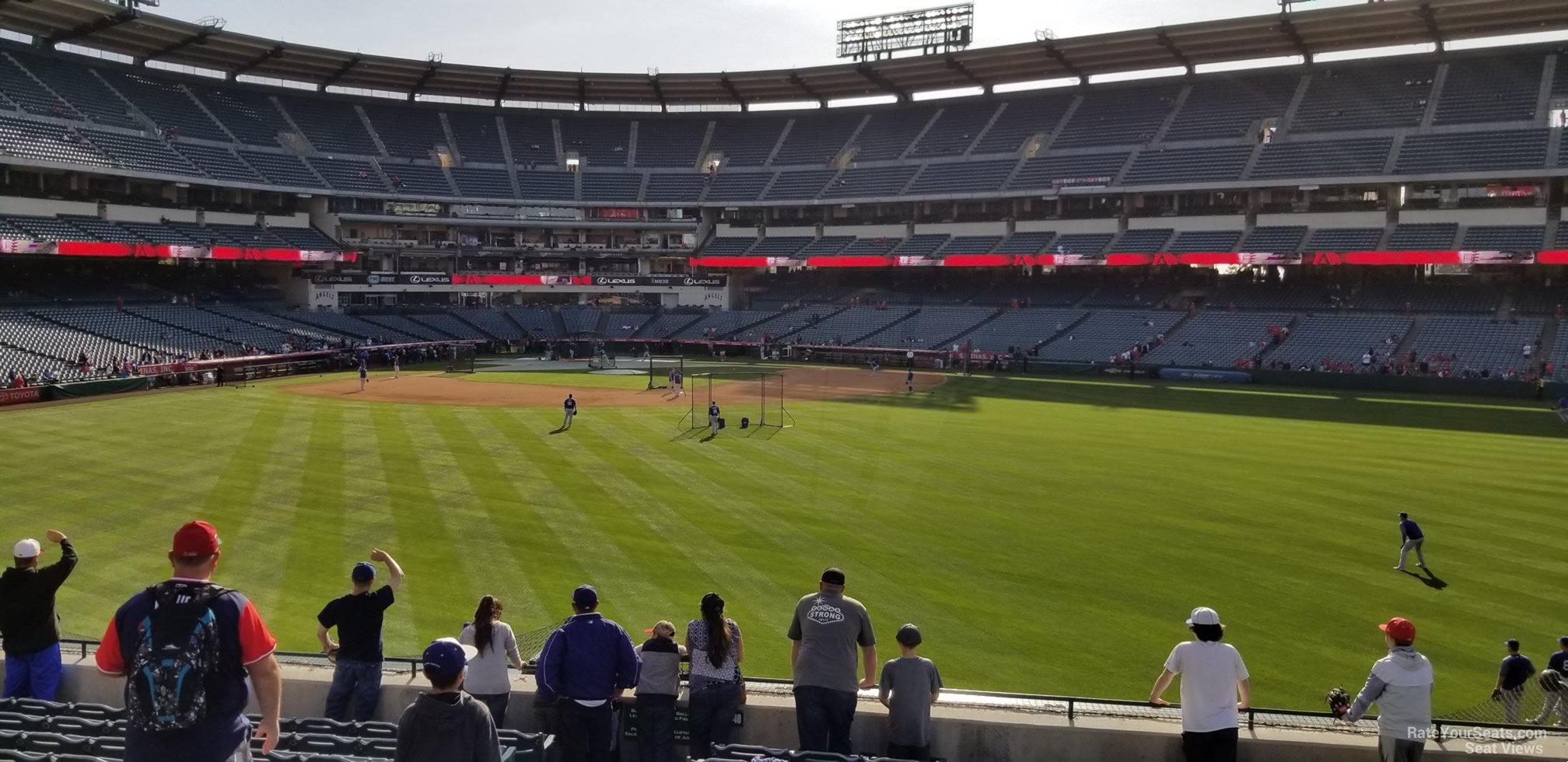 Seat View for Angel Stadium Section 240, Row F