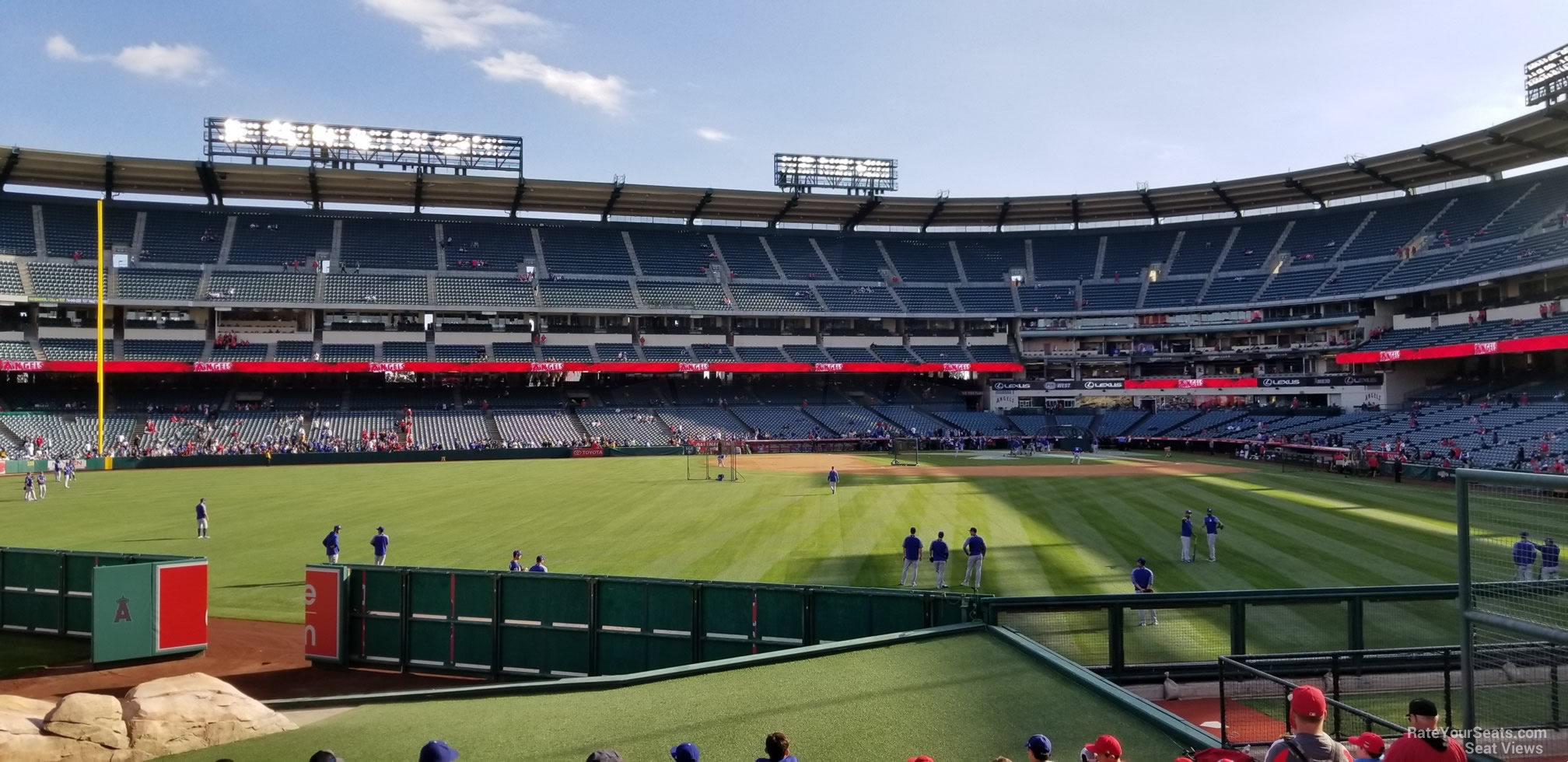 Seat View for Angel Stadium Section 257, Row F