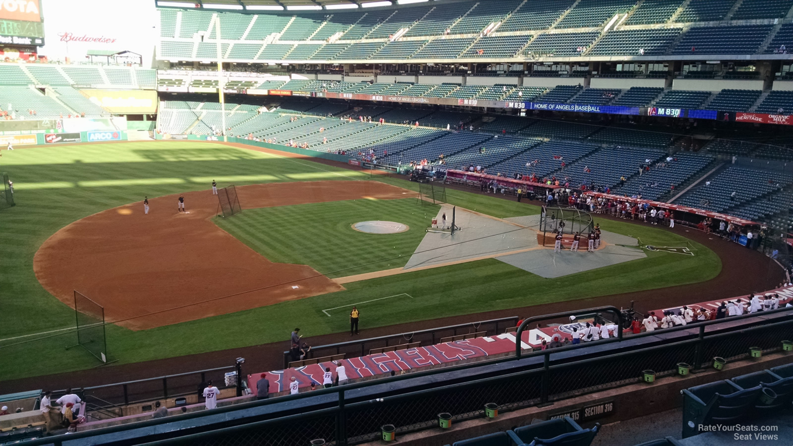 Seat View for Angel Stadium Section 315, Row F
