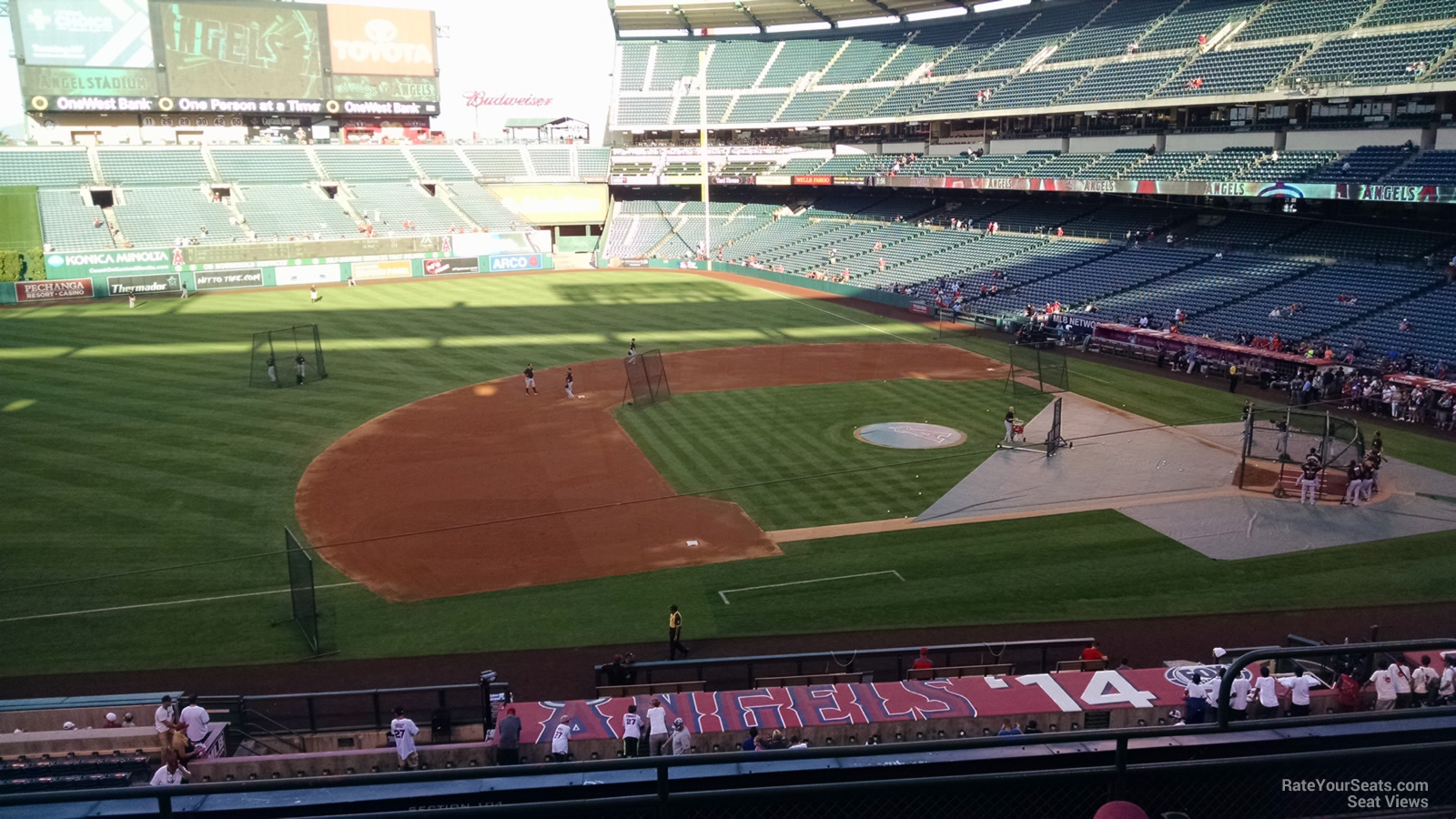 Seat View for Angel Stadium Section 316, Row F