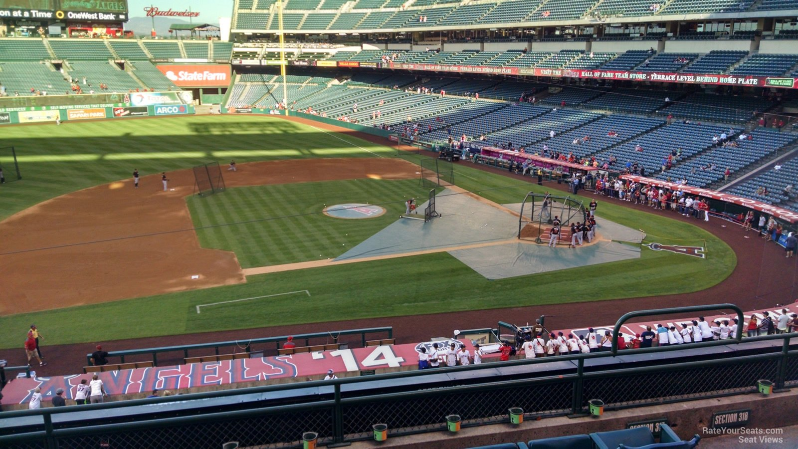 Seat View for Angel Stadium Section 317, Row F