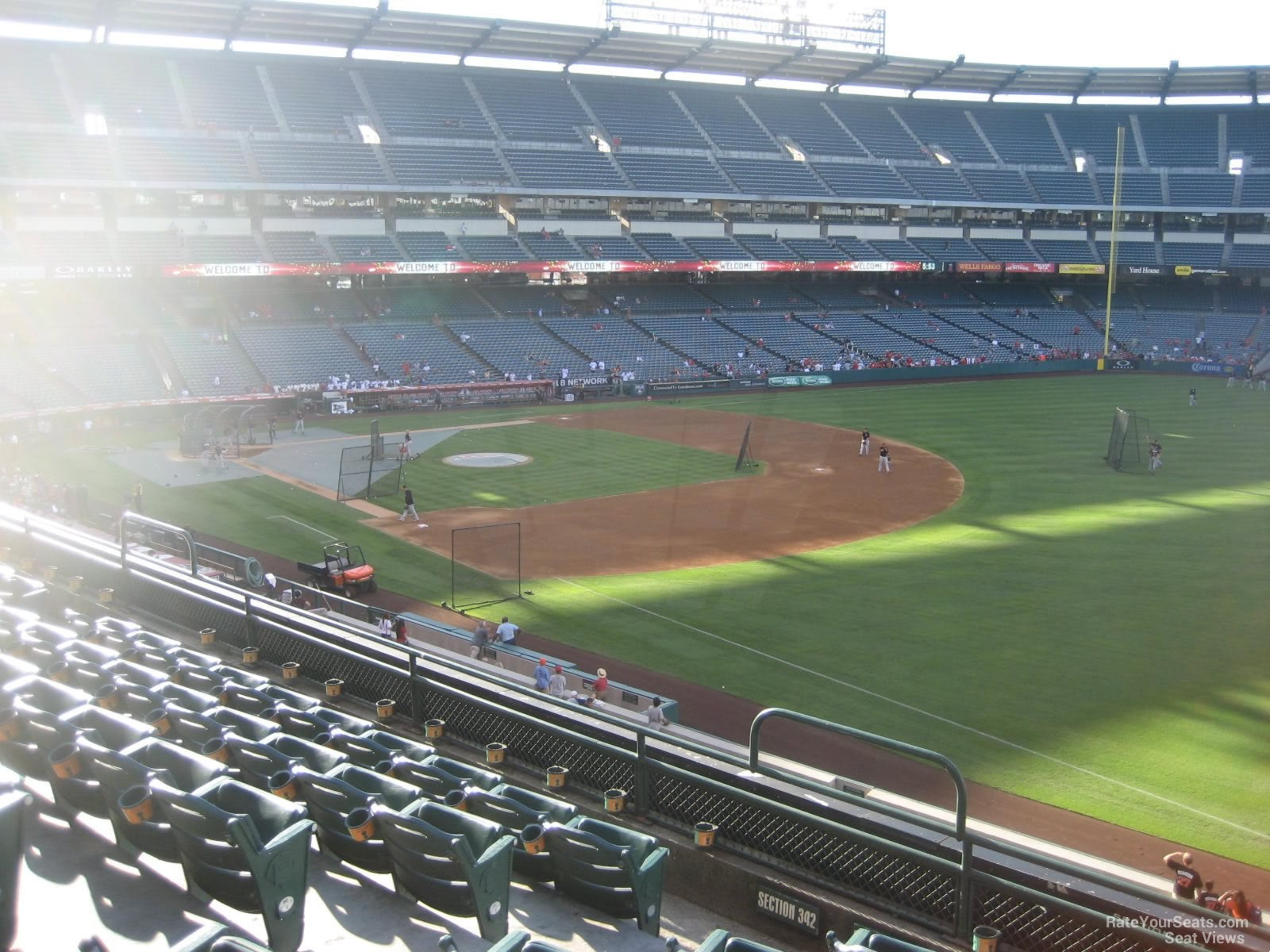 Seat View for Angel Stadium Section 343, Row F
