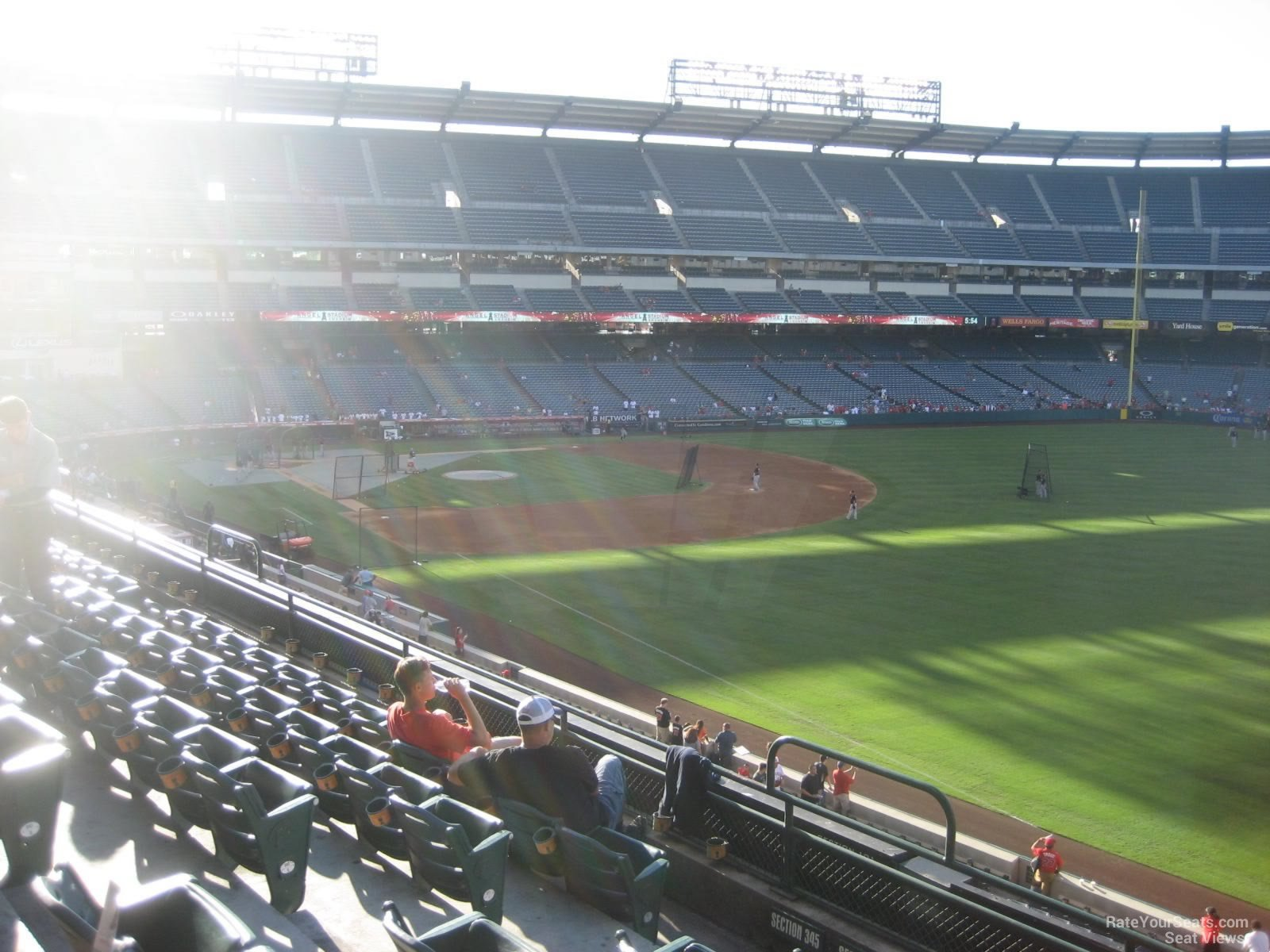 Seat View for Angel Stadium Section 346, Row F