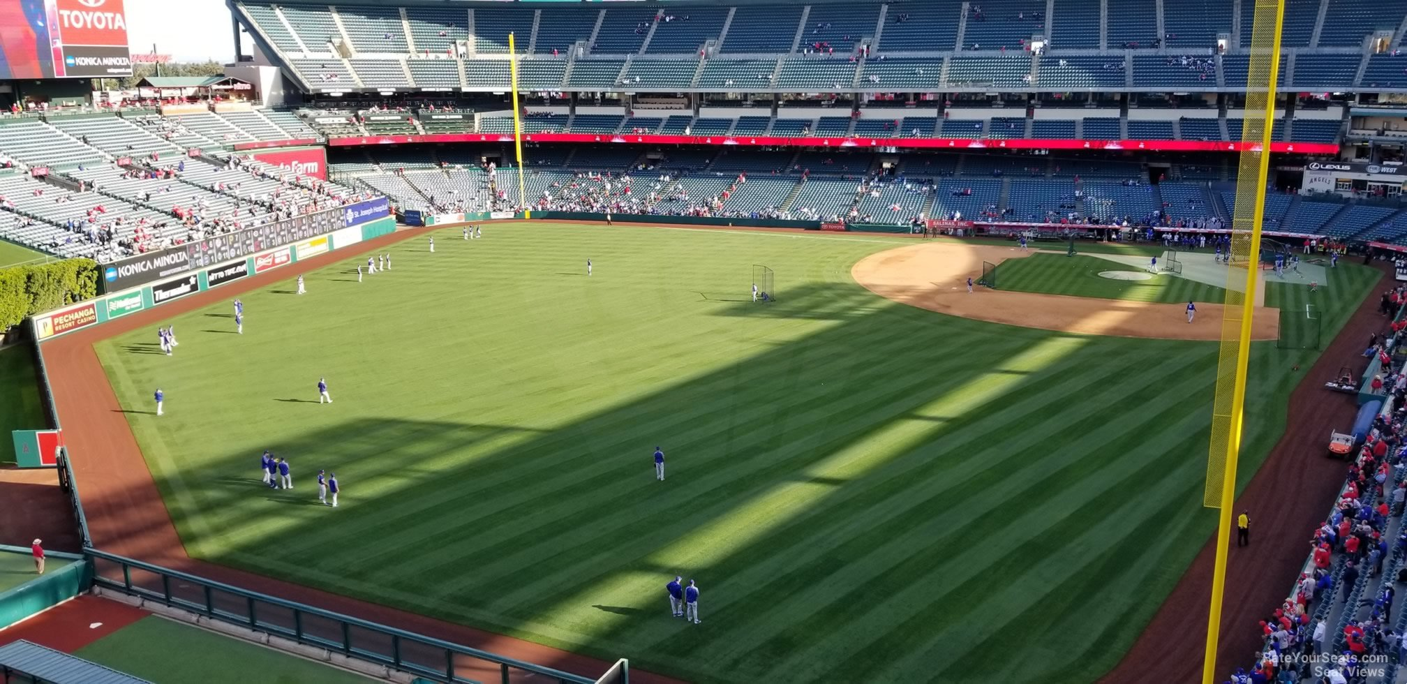 Seat View for Angel Stadium Section 401, Row E