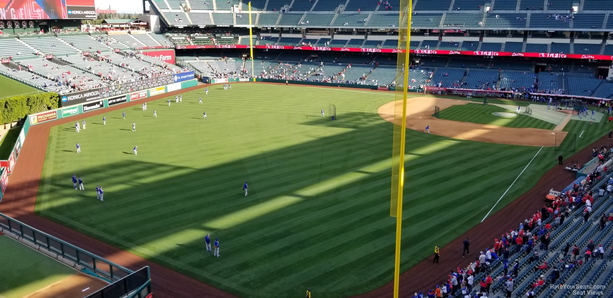 Seat View for Angel Stadium Section 403, Row E