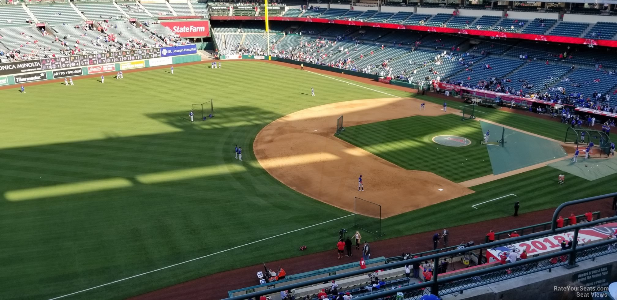 Seat View for Angel Stadium Section 409, Row E