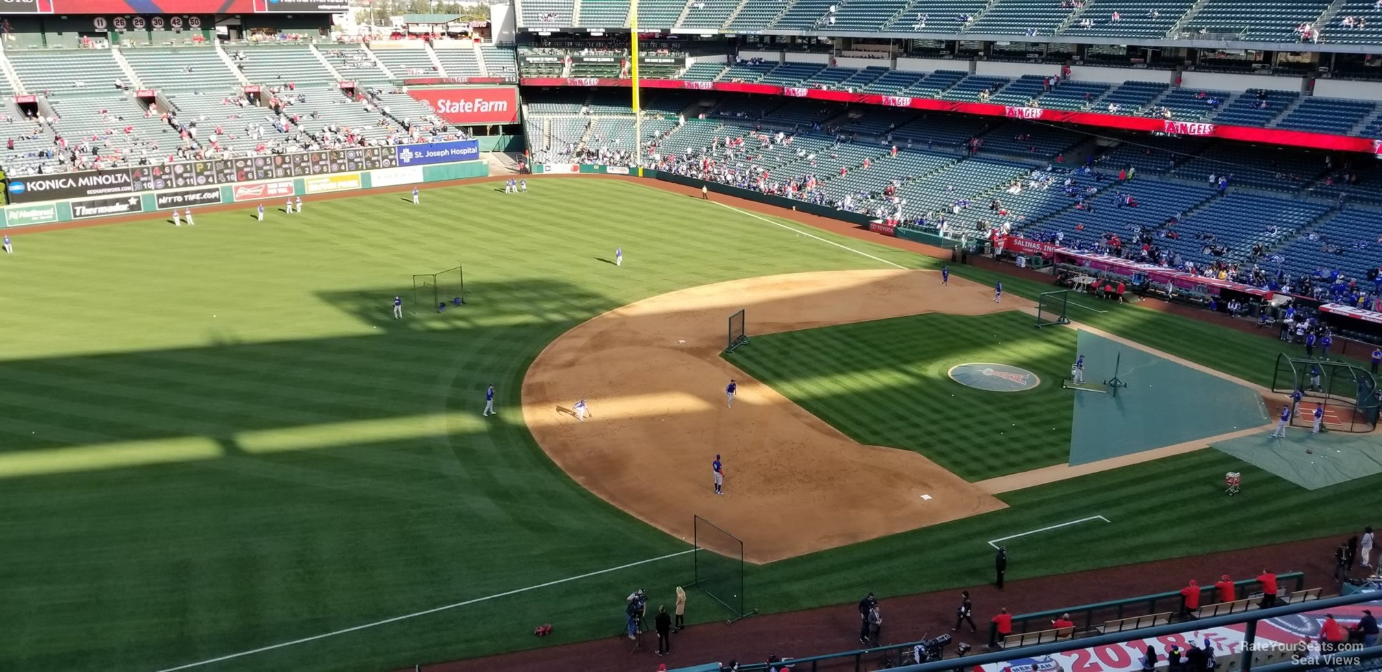 Seat View for Angel Stadium Section 410, Row E