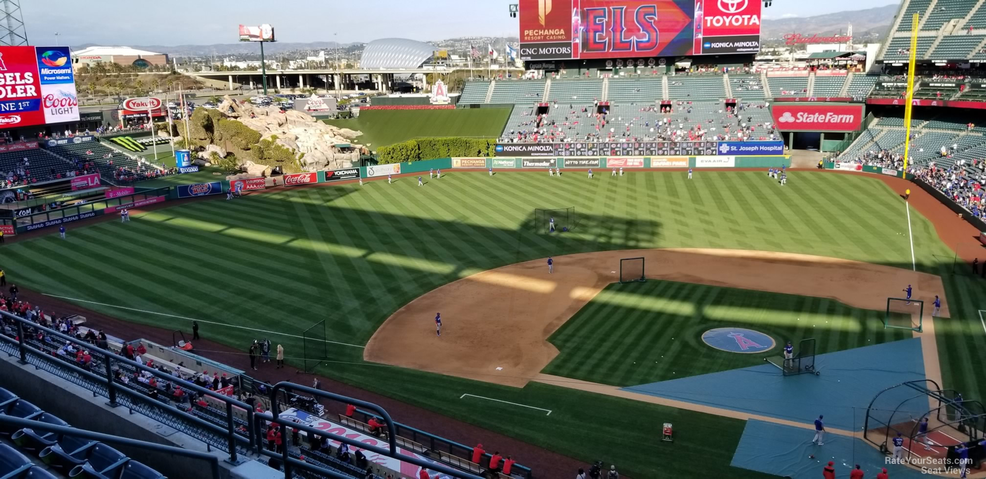 Seat View for Angel Stadium Section 414, Row E