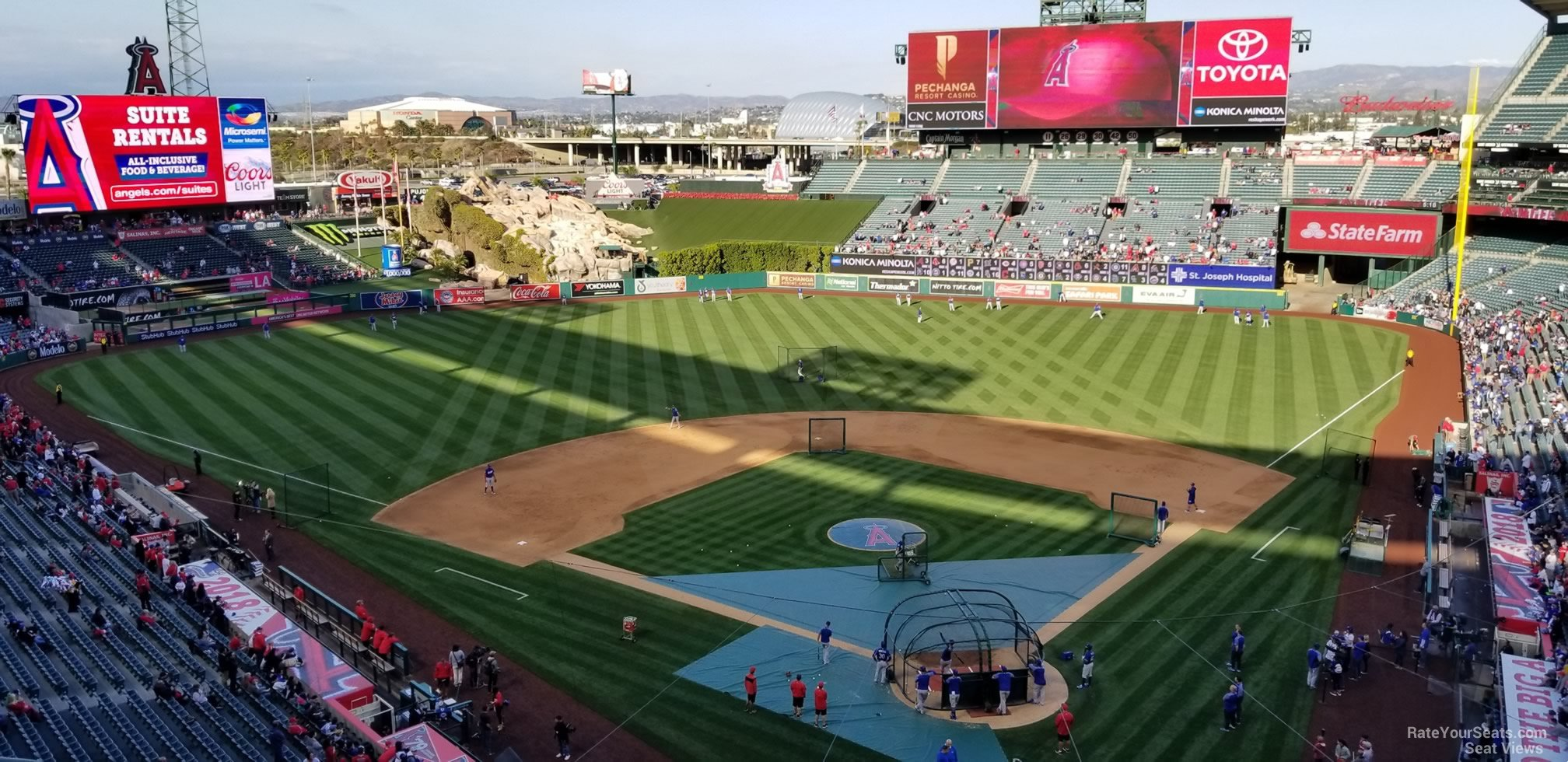 Seat View for Angel Stadium Section 417, Row E
