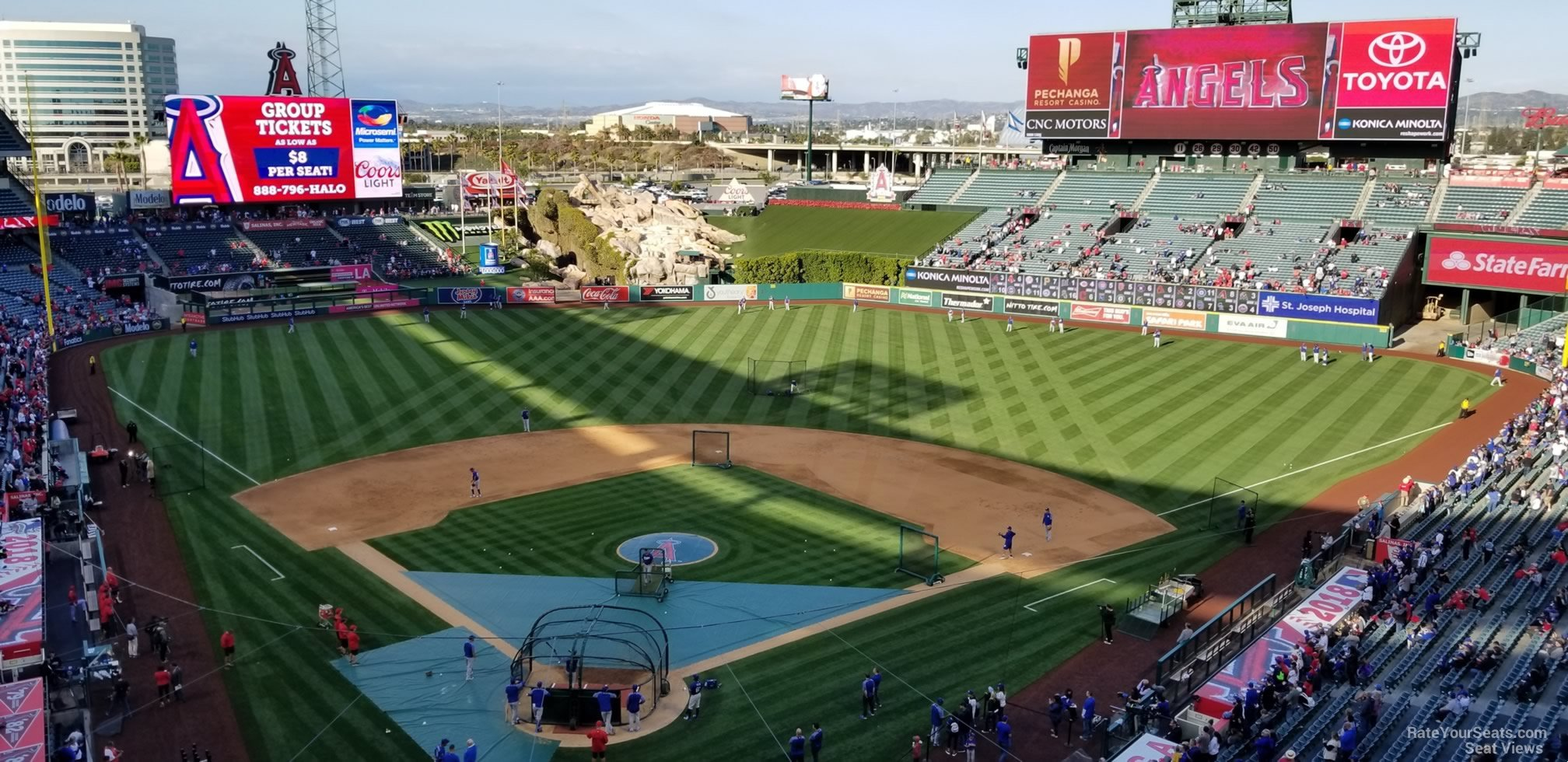 Seat View for Angel Stadium Section 420, Row E