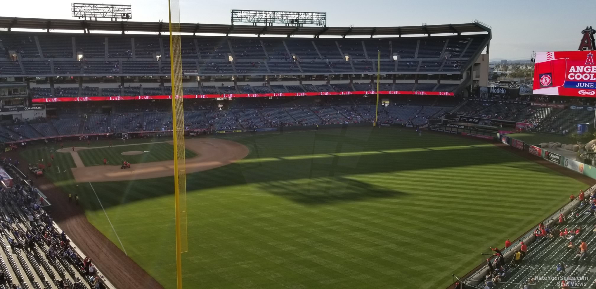 Seat View for Angel Stadium Section 435, Row E