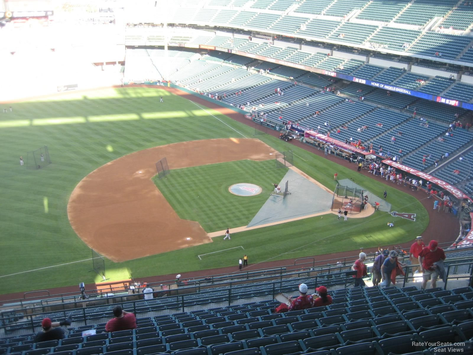 Seat View for Angel Stadium Section 512, Row R