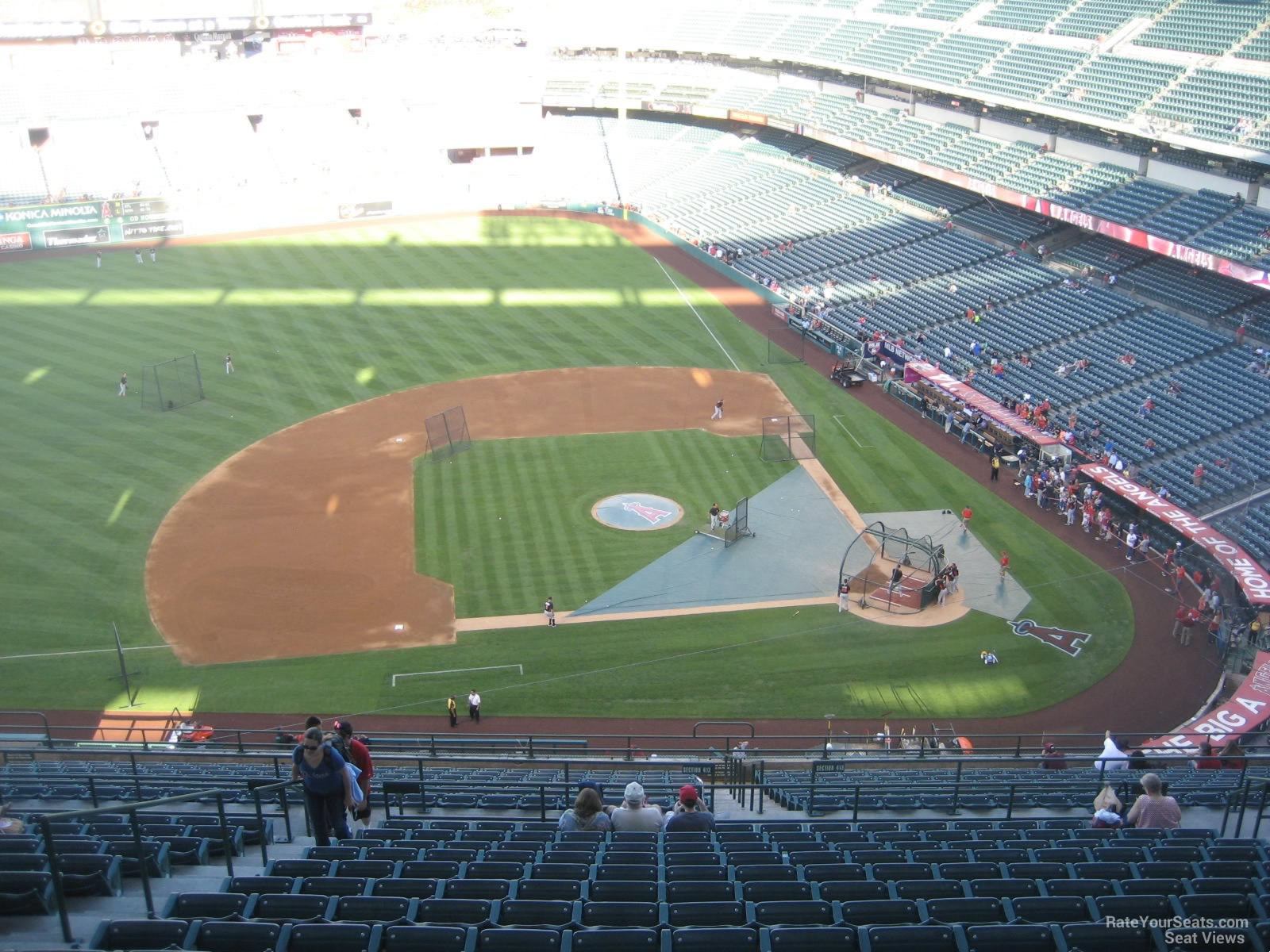Seat View for Angel Stadium Section 514, Row R