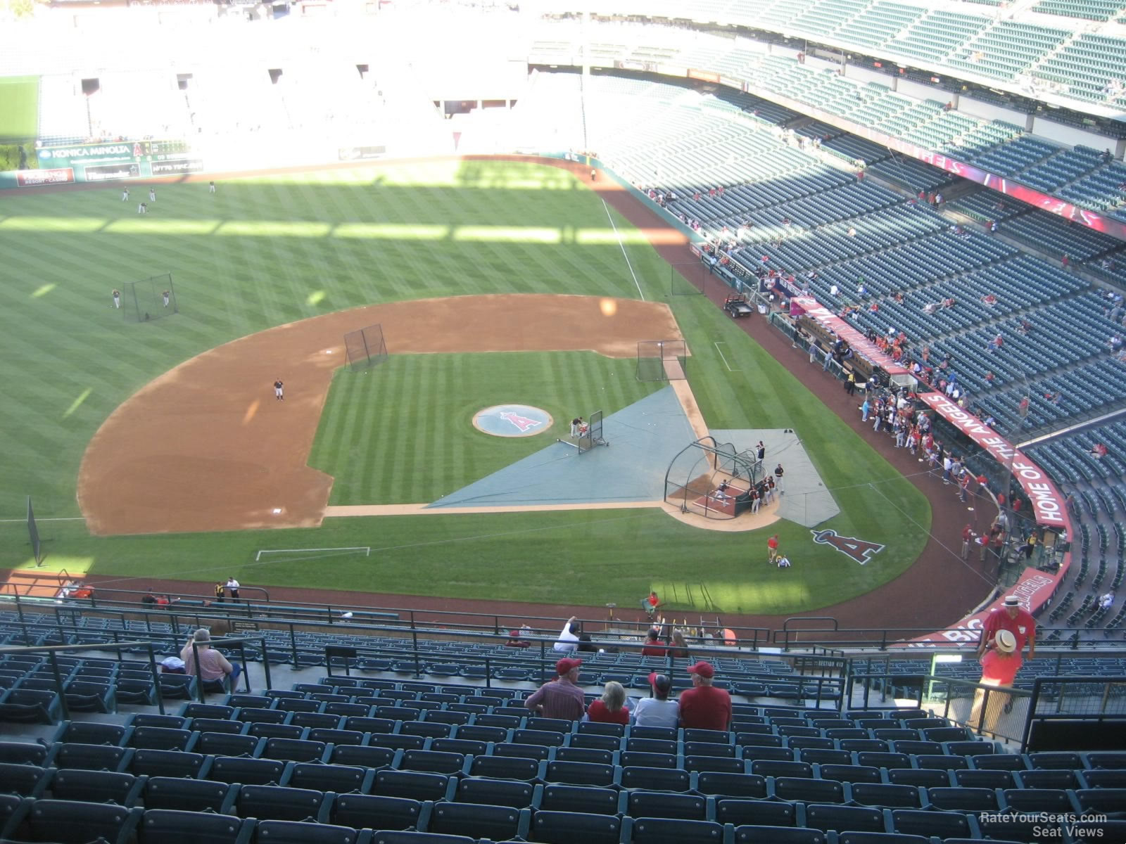 Seat View for Angel Stadium Section 515, Row R