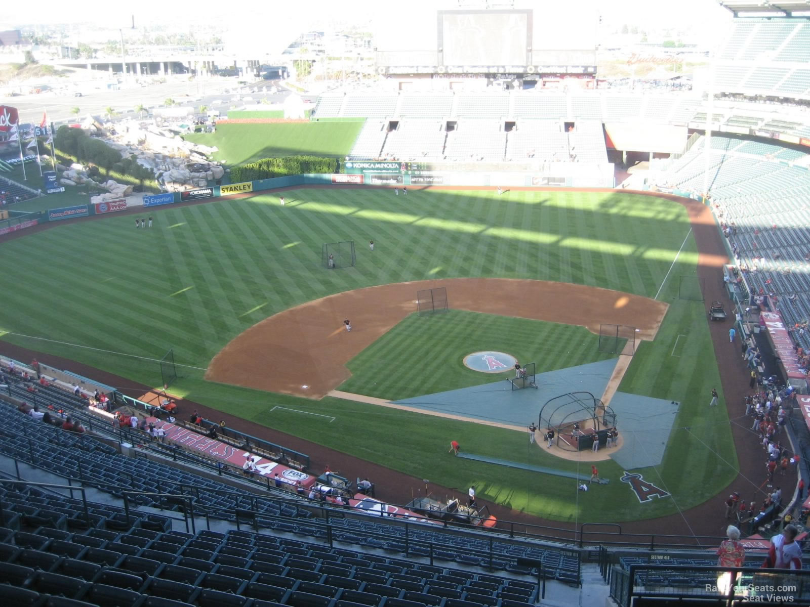 Seat View for Angel Stadium Section 517, Row R
