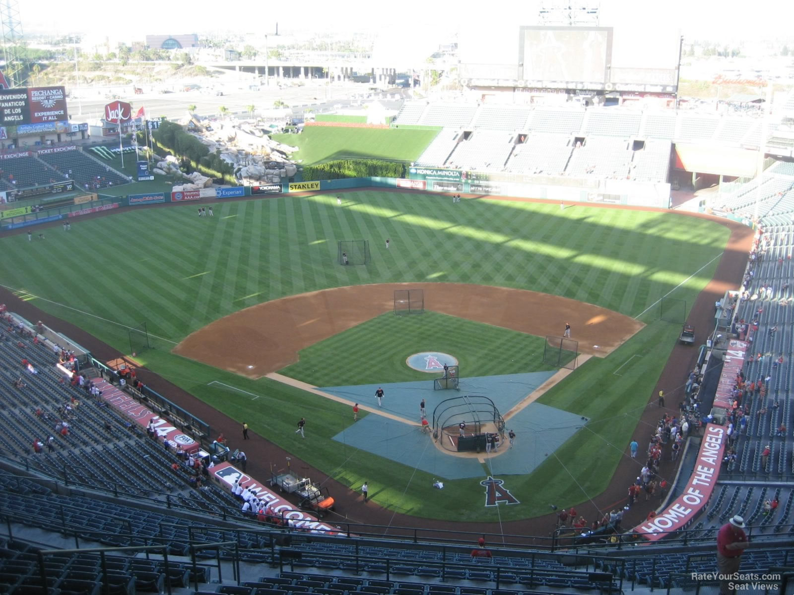 Seat View for Angel Stadium Section 519, Row R