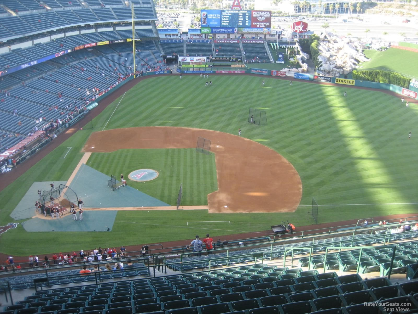 Seat View for Angel Stadium Section 527, Row R