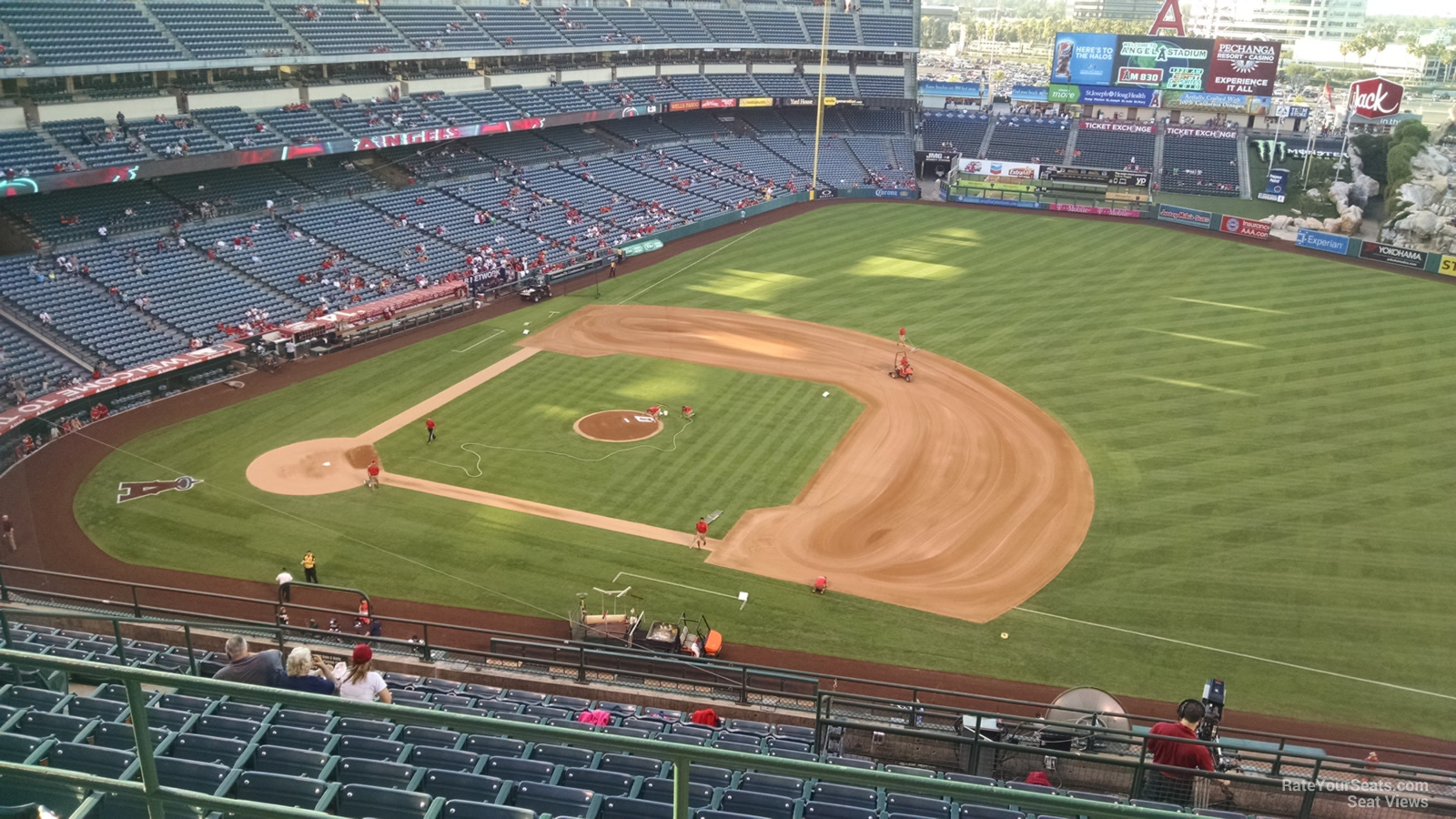 Seat View for Angel Stadium Section 529, Row C