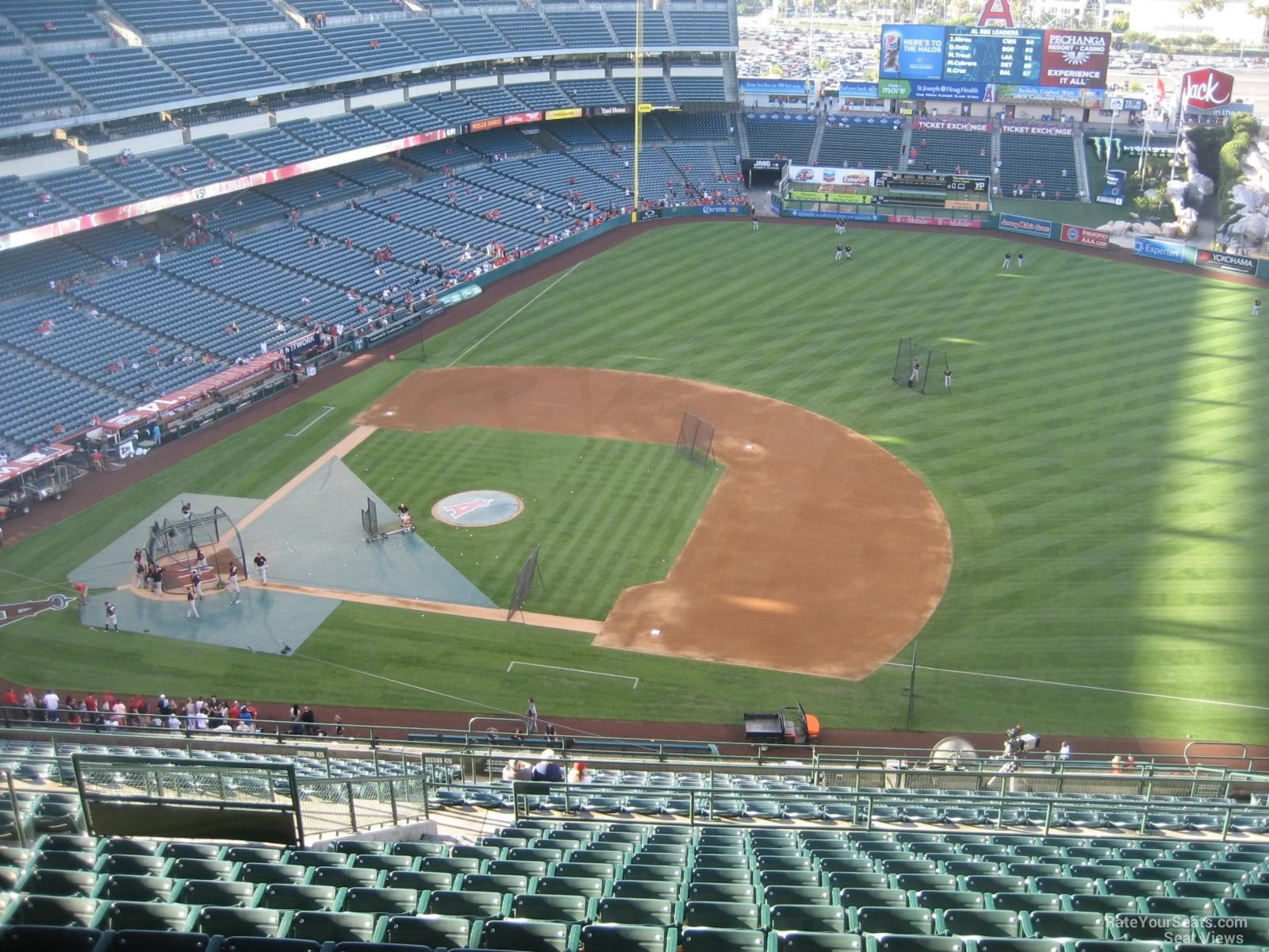 Seat View for Angel Stadium Section 529, Row R