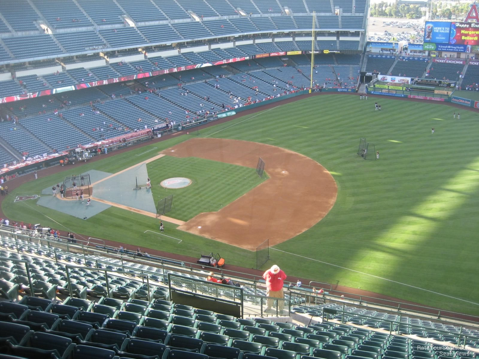 Seat View for Angel Stadium Section 531, Row R