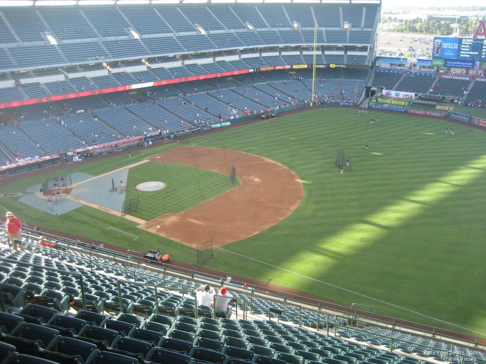 Seat View for Angel Stadium Section 532, Row R