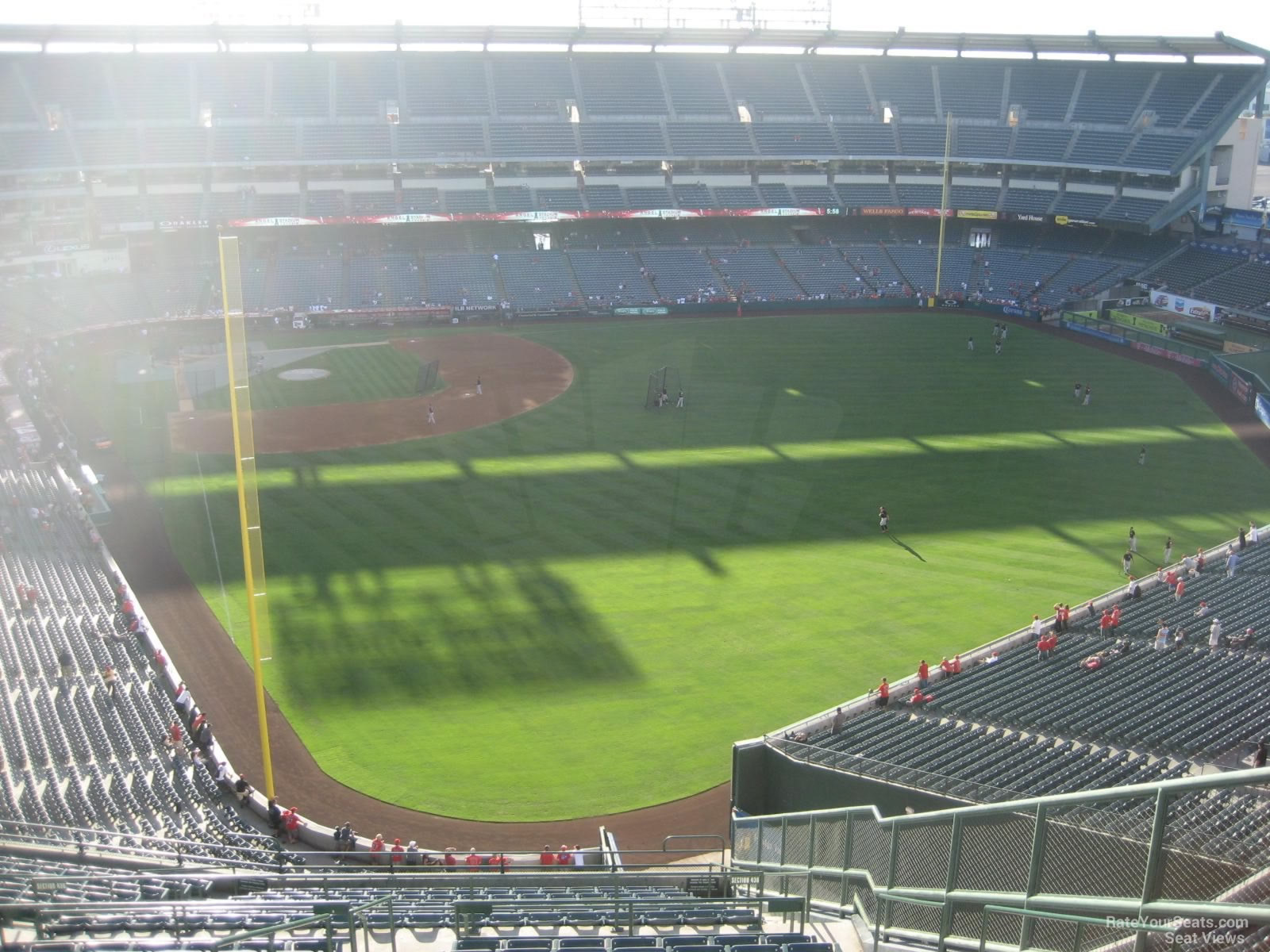 Seat View for Angel Stadium Section 540, Row R