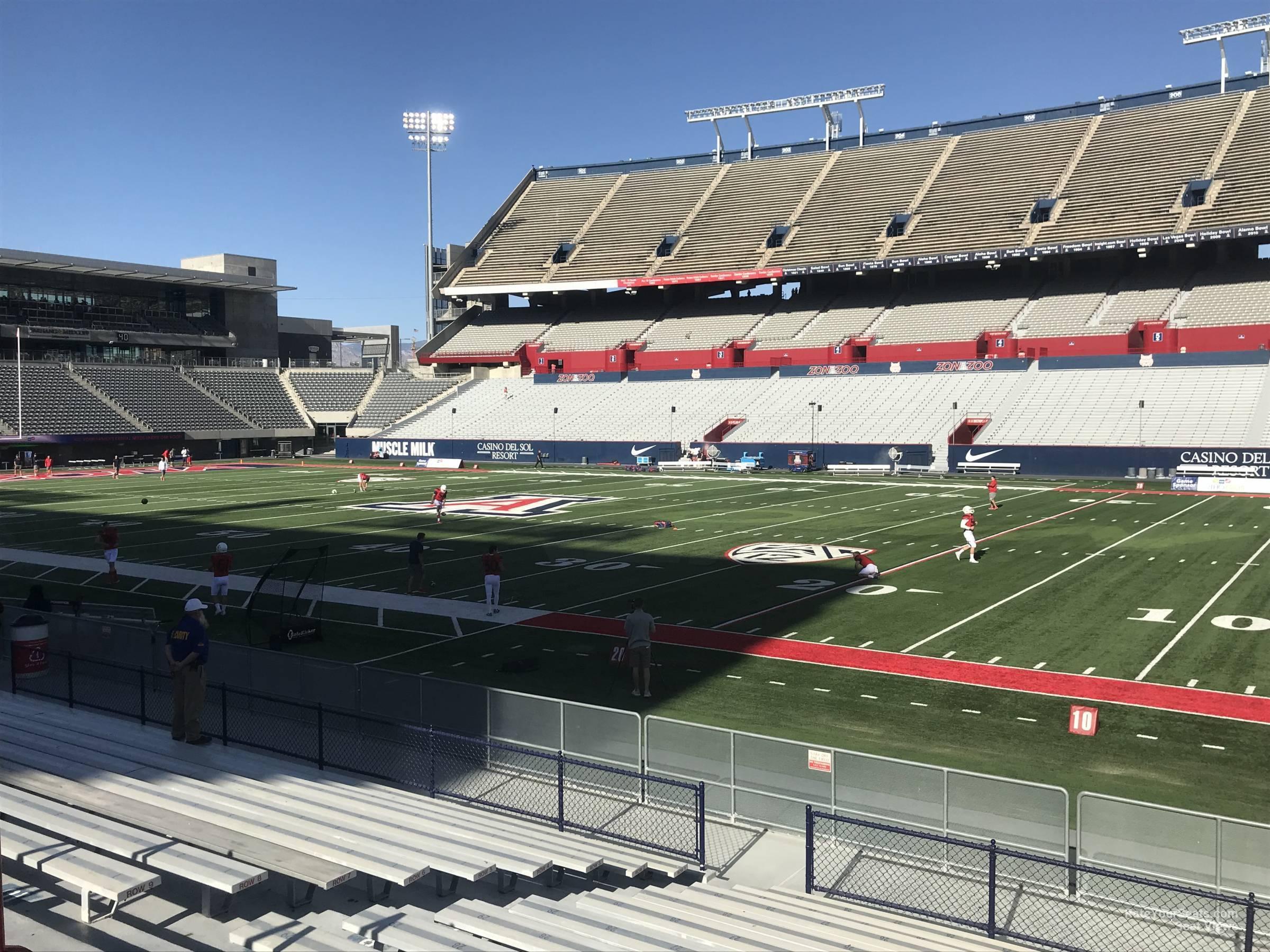 Seat View For Arizona Stadium Section 18 Row 15