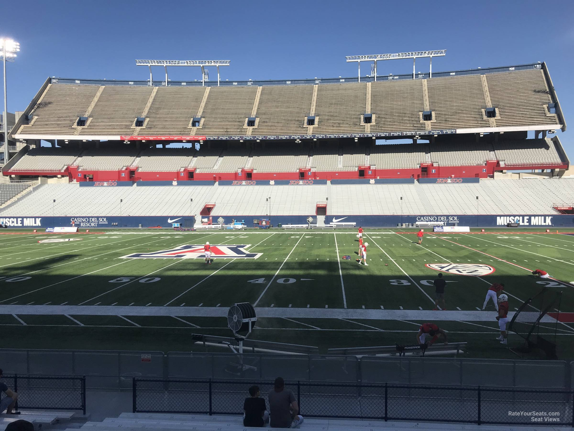 Seat View For Arizona Stadium Section 20 Row 15