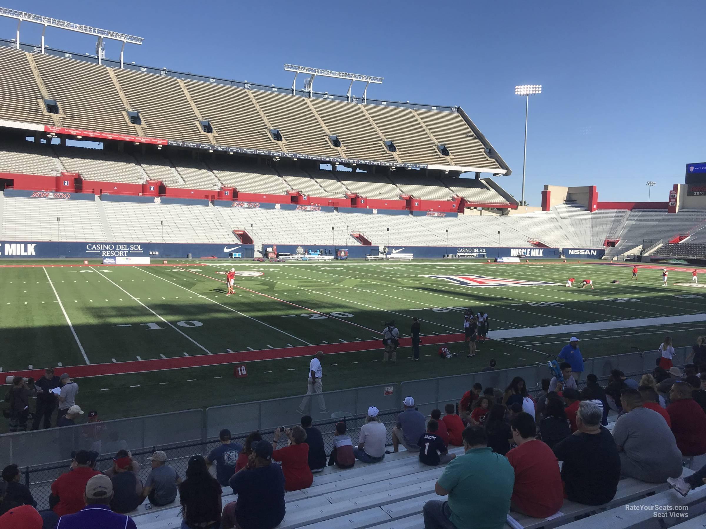 Seat View For Arizona Stadium Section 24 Row 10