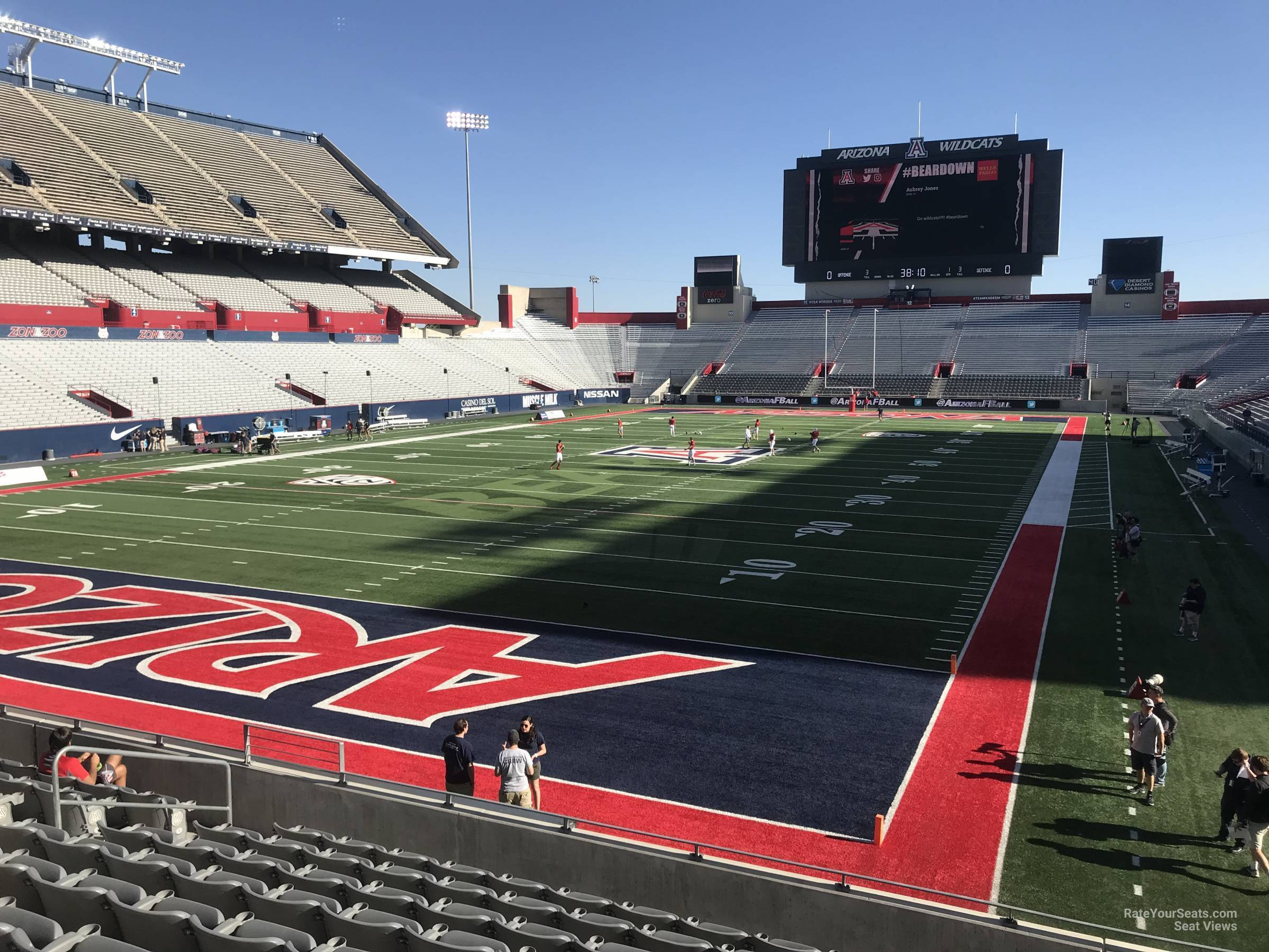 Seat View for Arizona Stadium Section 29, Row 10