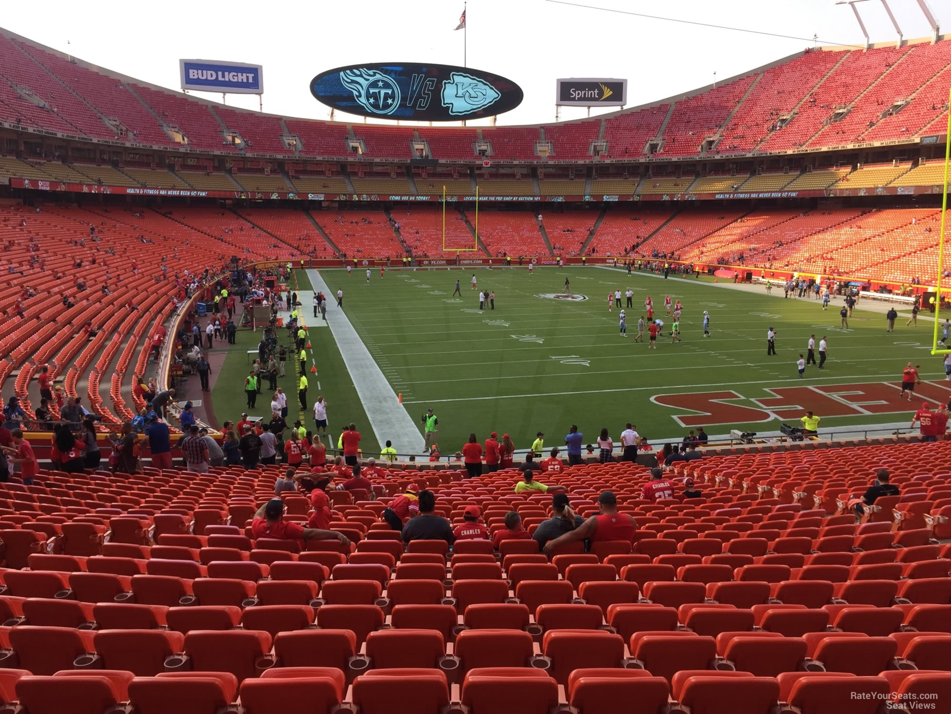 Seat View for Arrowhead Stadium Section 112, Row 30
