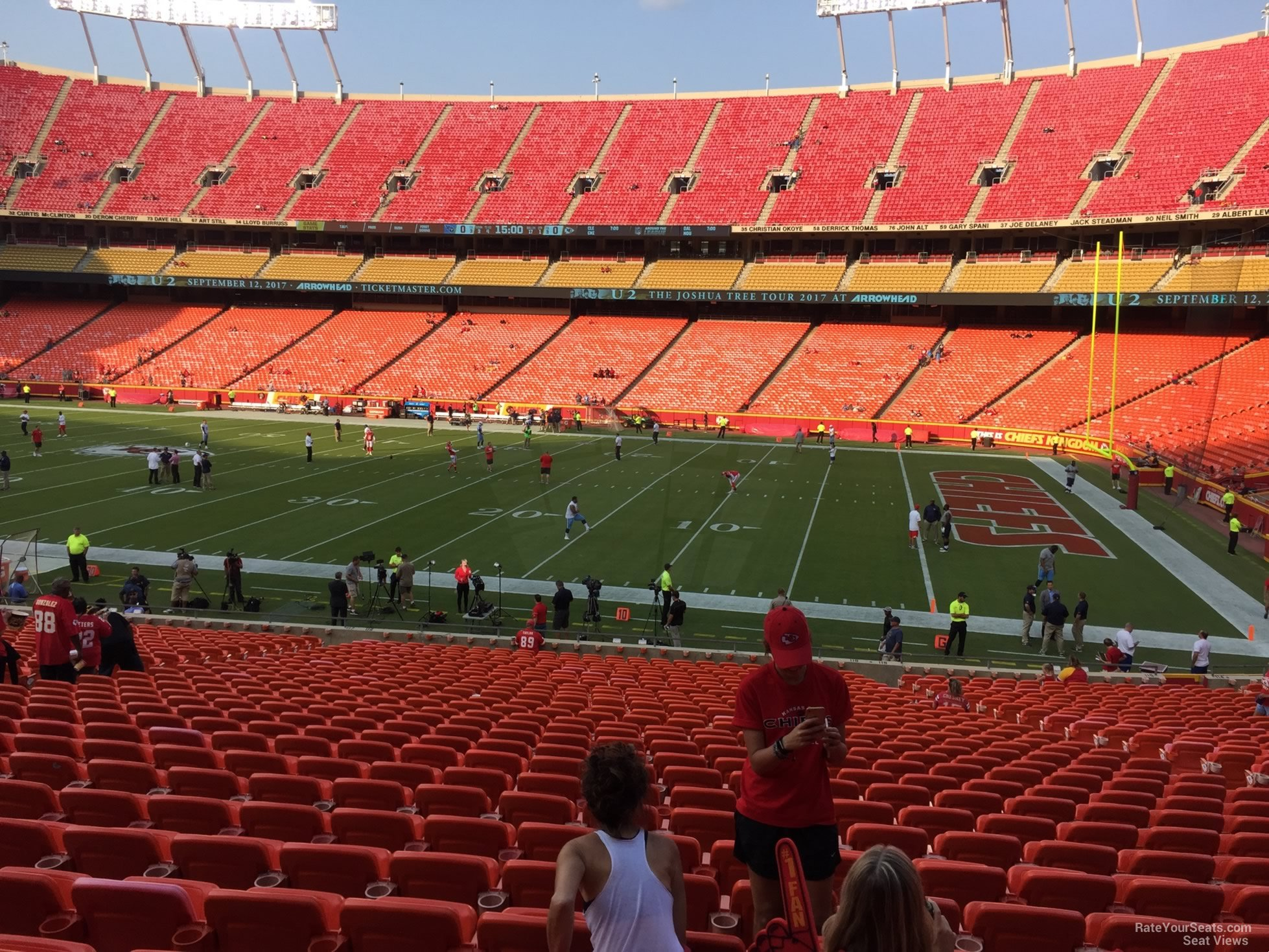 Seat View for Arrowhead Stadium Section 116, Row 30