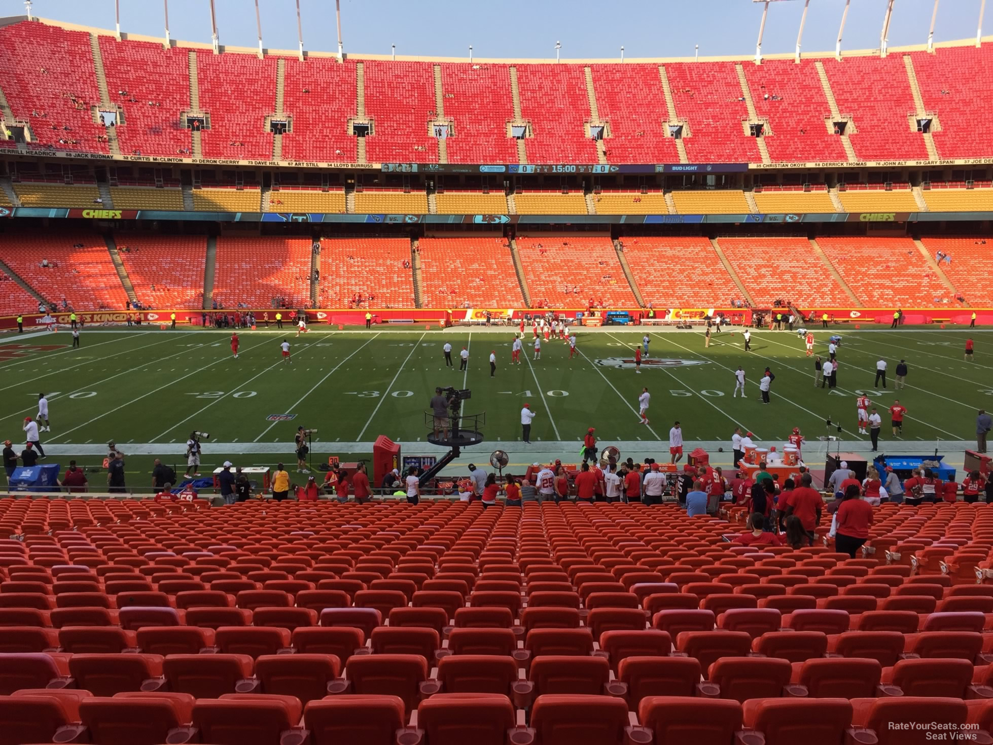 Seat View for Arrowhead Stadium Section 120, Row 30