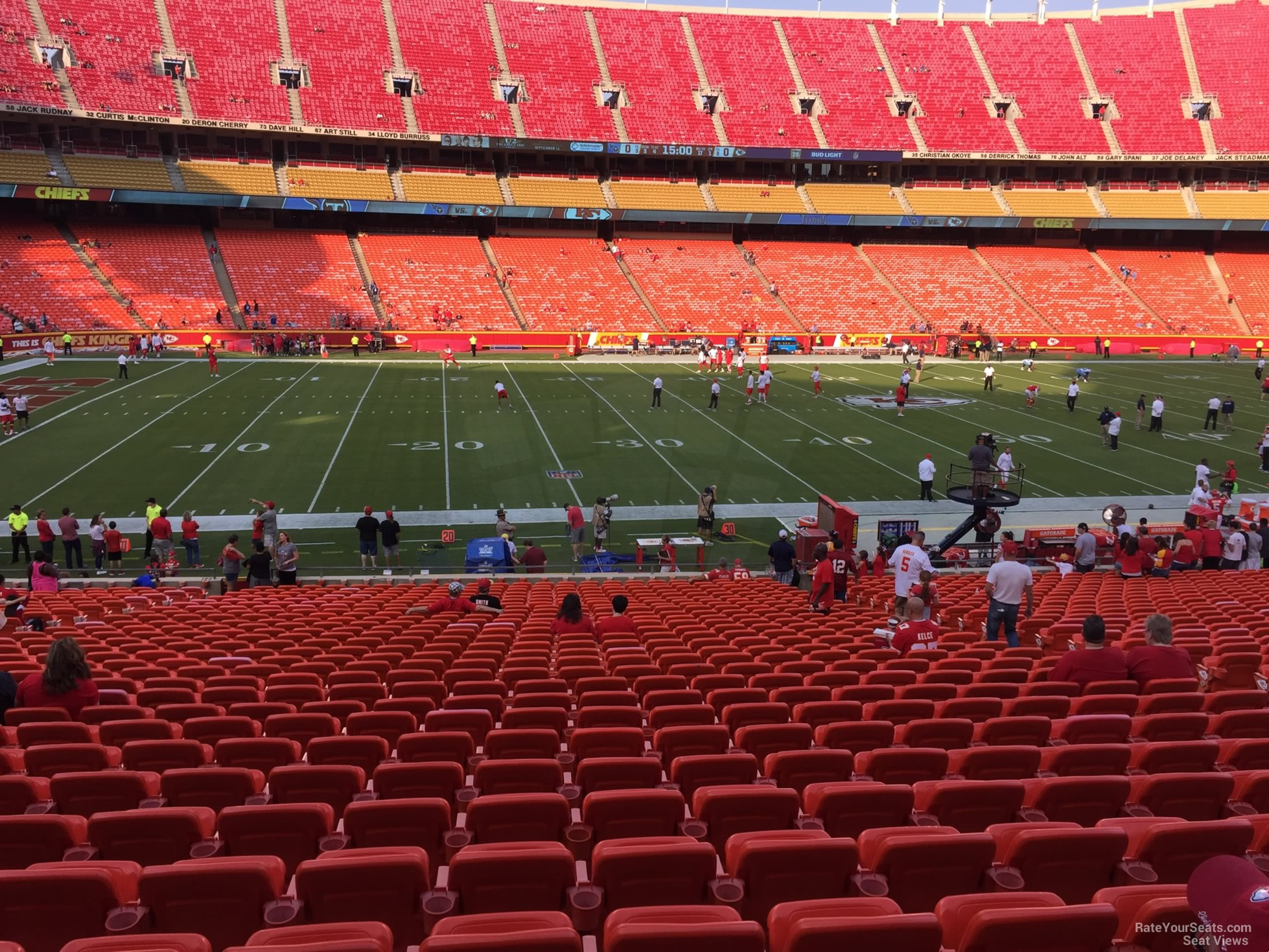 Seat View for Arrowhead Stadium Section 121
