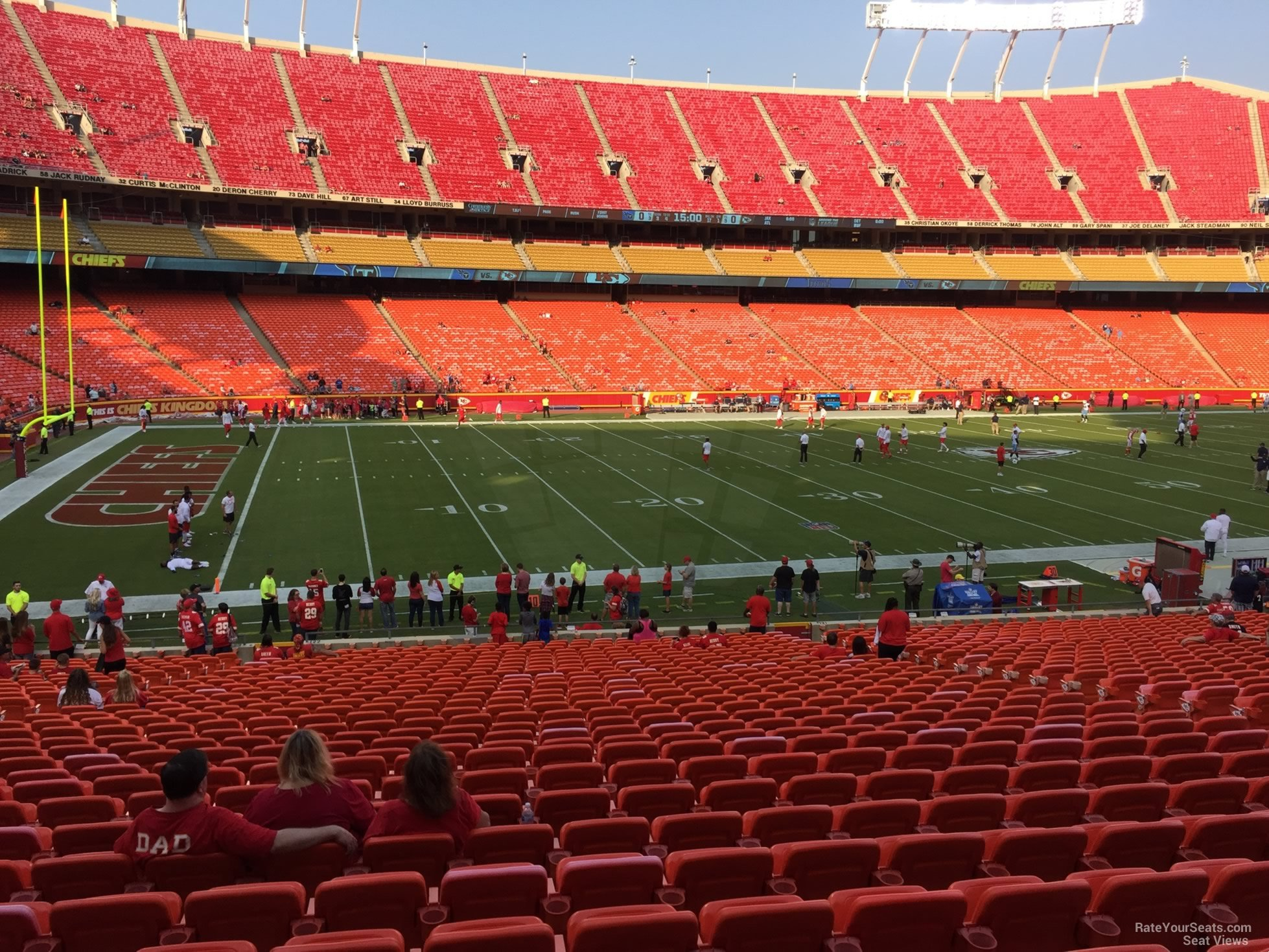 Seat View for Arrowhead Stadium Section 122, Row 30