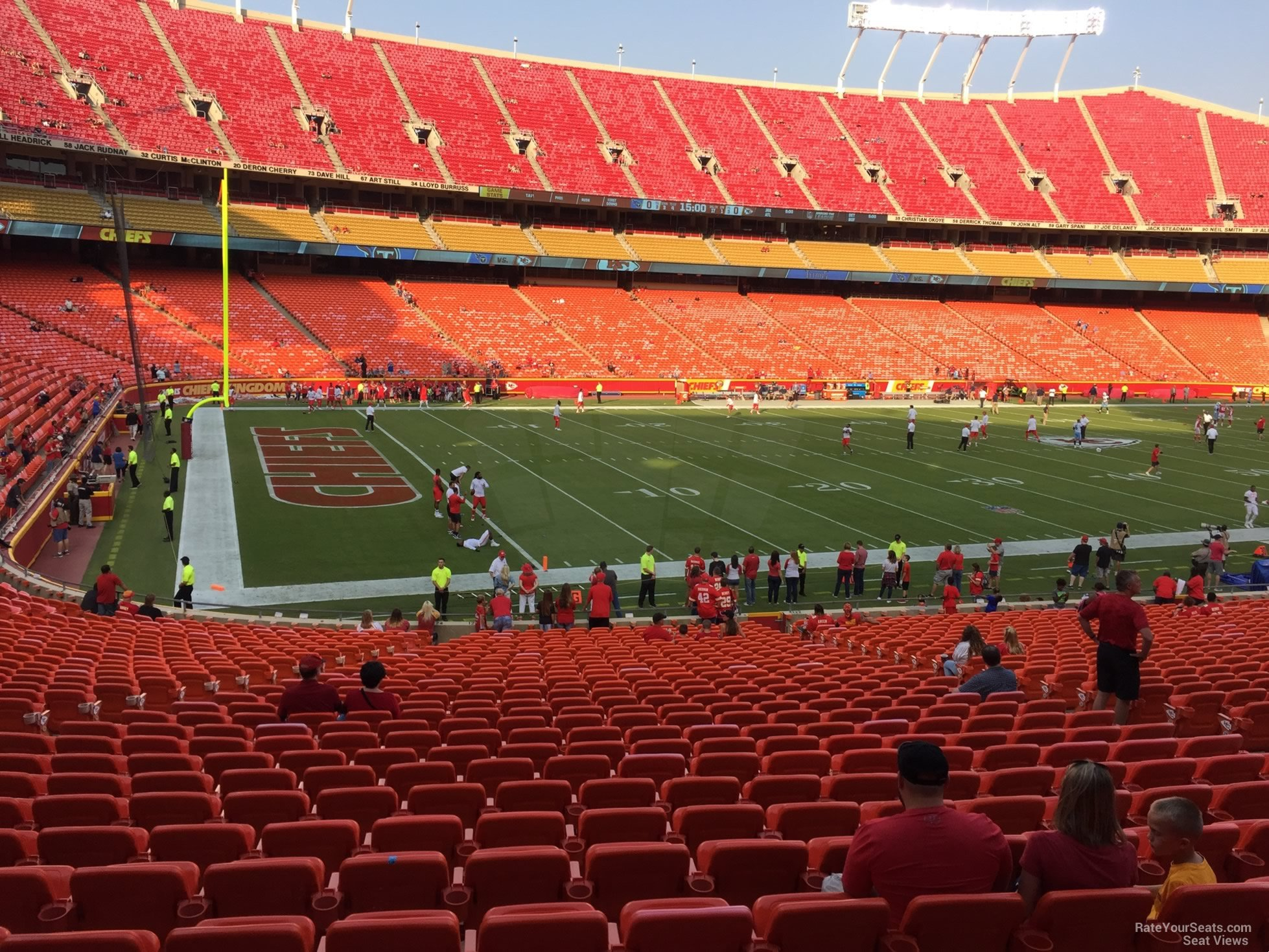 Seat View for Arrowhead Stadium Section 123, Row 30